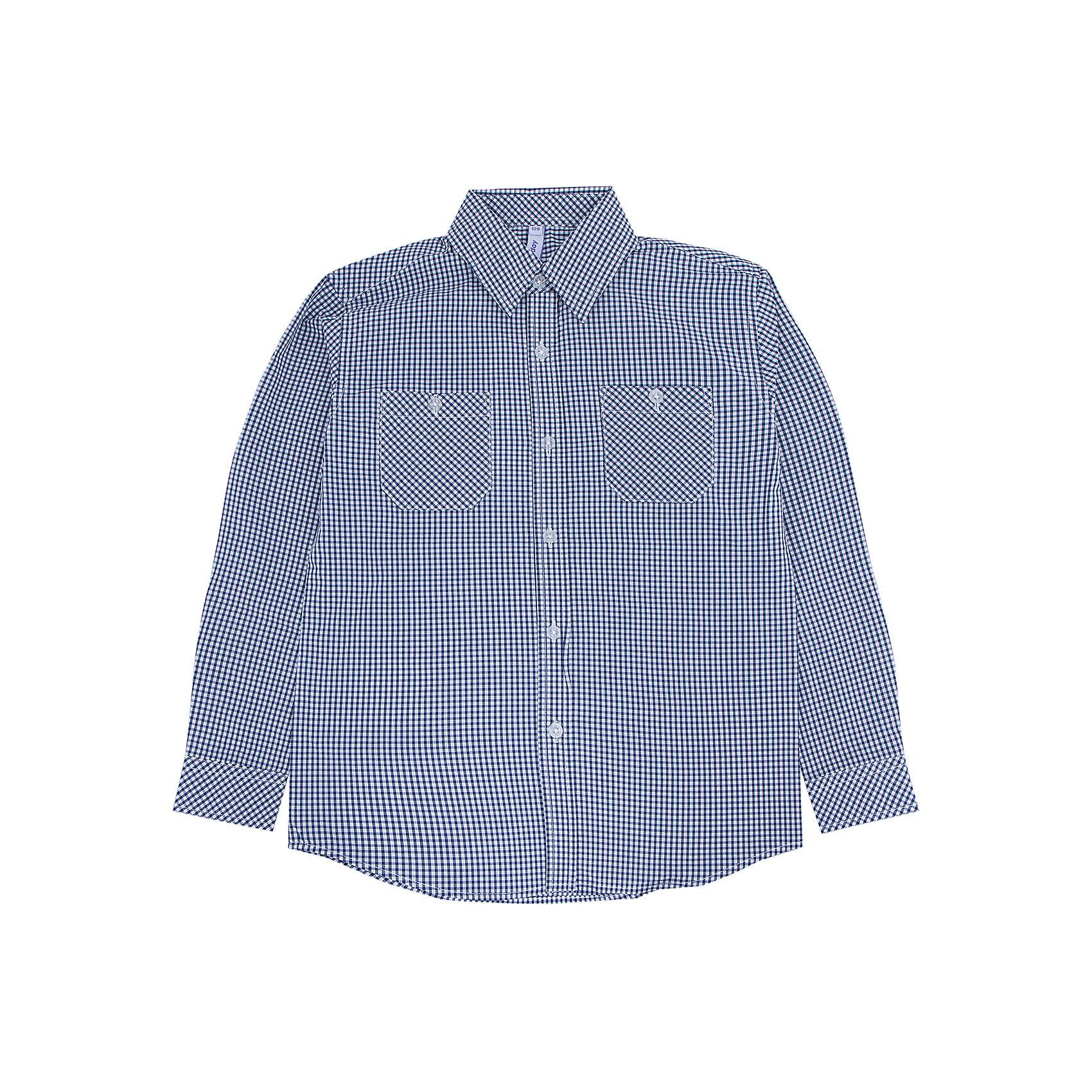Рубашка для мальчика PlayTodayРубашка для мальчика от известного бренда PlayToday.<br>Стильная сорочка в мелкую темно-синюю клетку. Застегивается на прозрачные пуговицы. Классический отложной воротничок. Манжеты на двух пуговках. На полочке два функциональных кармана.<br>Состав:<br>100% хлопок<br><br>Ширина мм: 174<br>Глубина мм: 10<br>Высота мм: 169<br>Вес г: 157<br>Цвет: синий<br>Возраст от месяцев: 36<br>Возраст до месяцев: 48<br>Пол: Мужской<br>Возраст: Детский<br>Размер: 104,98,122,116,110,128<br>SKU: 4896752