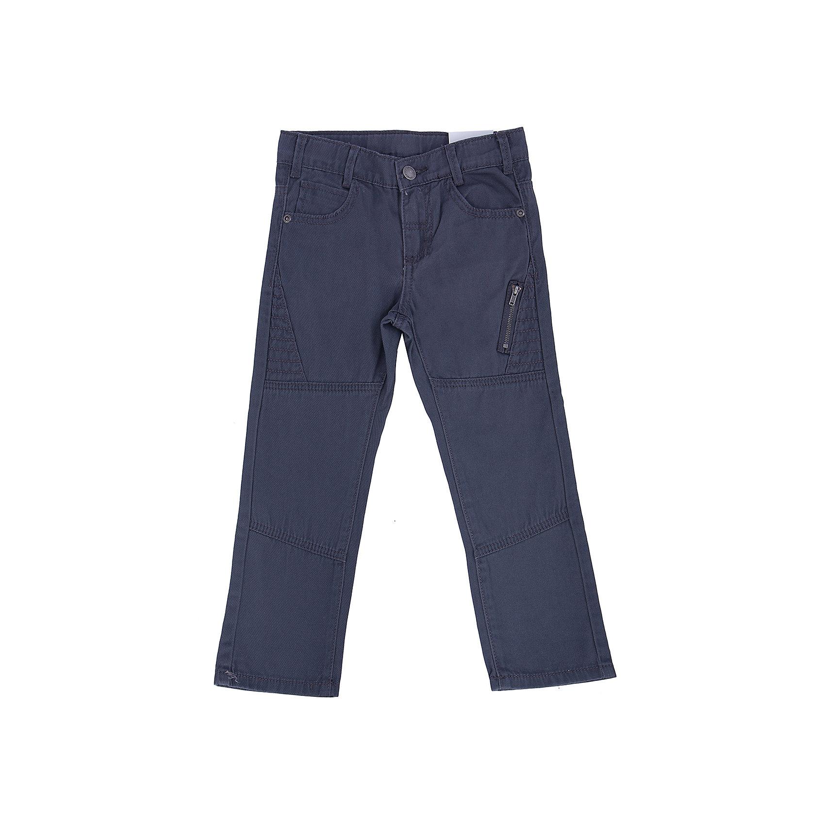 Брюки для мальчика PlayTodayБрюки<br>Брюки для мальчика от известного бренда PlayToday.<br>Стильные твиловые брюки графитового цвета. Классическая пятикарманка. Застегиваются на молнию и пуговицу, есть шлевки для ремня. Украшены декоративным карманом на молнии.<br>Состав:<br>100% хлопок<br><br>Ширина мм: 215<br>Глубина мм: 88<br>Высота мм: 191<br>Вес г: 336<br>Цвет: серый<br>Возраст от месяцев: 72<br>Возраст до месяцев: 84<br>Пол: Мужской<br>Возраст: Детский<br>Размер: 122,104,128,110,116,98<br>SKU: 4896766