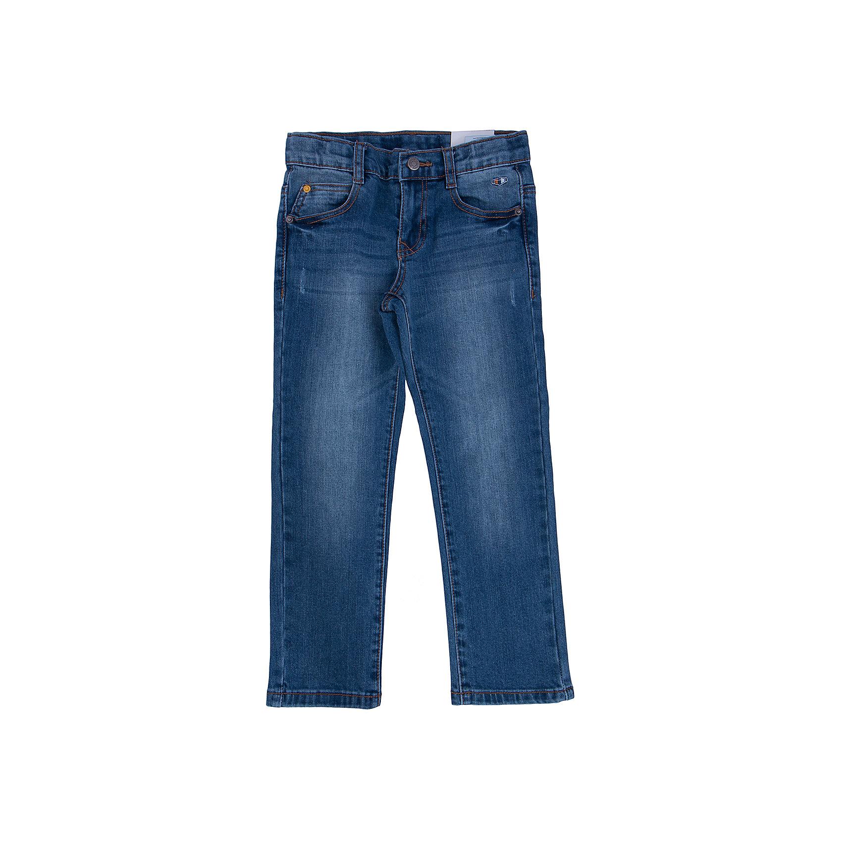Джинсы для мальчика PlayTodayДжинсы для мальчика от известного бренда PlayToday.<br>Стильные хлопковые джинсы с модными потертостями. Классическая пятикарманка. Застегиваются на молнию и пуговицу, есть шлевки для ремня.<br>Состав:<br>70% хлопок, 20% полиэстер, 8% вискоза, 2% эластан<br><br>Ширина мм: 215<br>Глубина мм: 88<br>Высота мм: 191<br>Вес г: 336<br>Цвет: серый<br>Возраст от месяцев: 60<br>Возраст до месяцев: 72<br>Пол: Мужской<br>Возраст: Детский<br>Размер: 116,104,122,128,110,98<br>SKU: 4896773