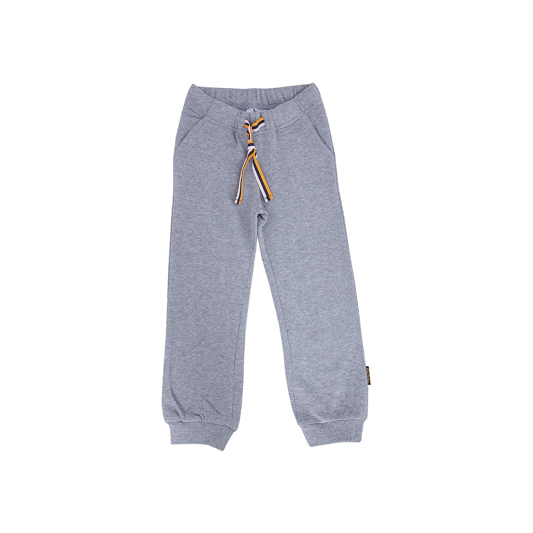Брюки для мальчика PlayTodayБрюки для мальчика от известного бренда PlayToday.<br>Уютные брюки из футера в спортивном стиле. Пояс на резинке, дополнительно регулируется яркой тесьмой. Есть 3 функциональных кармана. Низ штанишек на широкой трикотажной резинке.<br>Состав:<br>80% хлопок, 20% полиэстер<br><br>Ширина мм: 215<br>Глубина мм: 88<br>Высота мм: 191<br>Вес г: 336<br>Цвет: серый<br>Возраст от месяцев: 36<br>Возраст до месяцев: 48<br>Пол: Мужской<br>Возраст: Детский<br>Размер: 104,110,122,98,116,128<br>SKU: 4896787