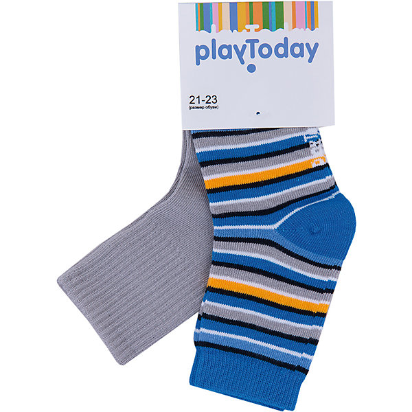 Купить Носки, 2 пары для мальчика PlayToday, Китай, разноцветный, 14, 18, 16, Мужской