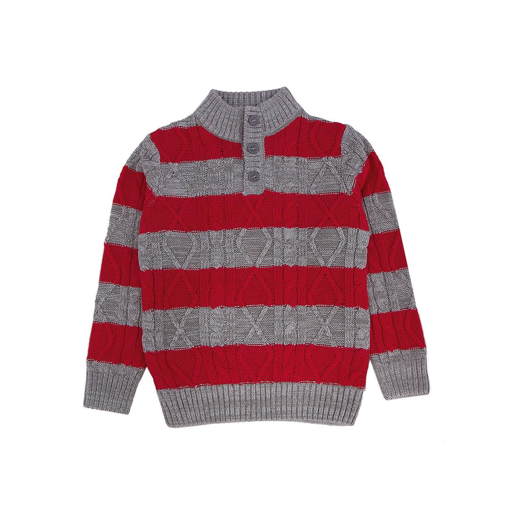 Свитер для мальчика PlayTodayСвитера и кардиганы<br>Свитер для мальчика от известного бренда PlayToday.<br>Уютный свитер с высоким воротником из мягкого вязаного трикотажа. Украшена контрастными красными полосками и фактурной вязкой. Застегивается на 3 пуговицы на воротнике. Рукава и низ на мягкой вязаной резинке.<br>Состав:<br>60% хлопок, 38% акрил, 2% эластан<br><br>Ширина мм: 190<br>Глубина мм: 74<br>Высота мм: 229<br>Вес г: 236<br>Цвет: разноцветный<br>Возраст от месяцев: 84<br>Возраст до месяцев: 96<br>Пол: Мужской<br>Возраст: Детский<br>Размер: 128,110,98,116,122,104<br>SKU: 4896894