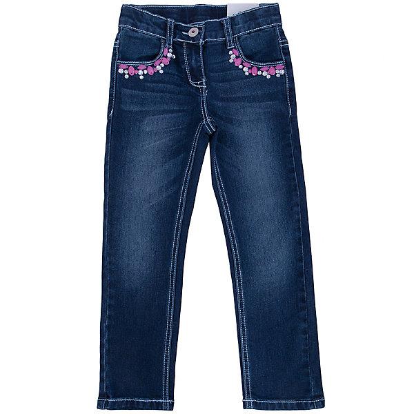 Джинсы для девочки PlayTodayДжинсовая одежда<br>Джинсы для девочки от известного бренда PlayToday.<br>Стильные джинсы прямого кроя. Застегиваются на молнию и пуговицу. Украшены крупными сверкающими стразами. Есть 4 функциональных кармана.<br>Состав:<br>75% хлопок, 23% полиэстер, 2% эластан<br>Ширина мм: 215; Глубина мм: 88; Высота мм: 191; Вес г: 336; Цвет: синий; Возраст от месяцев: 24; Возраст до месяцев: 36; Пол: Женский; Возраст: Детский; Размер: 98,104,122,116,110,128; SKU: 4896971;