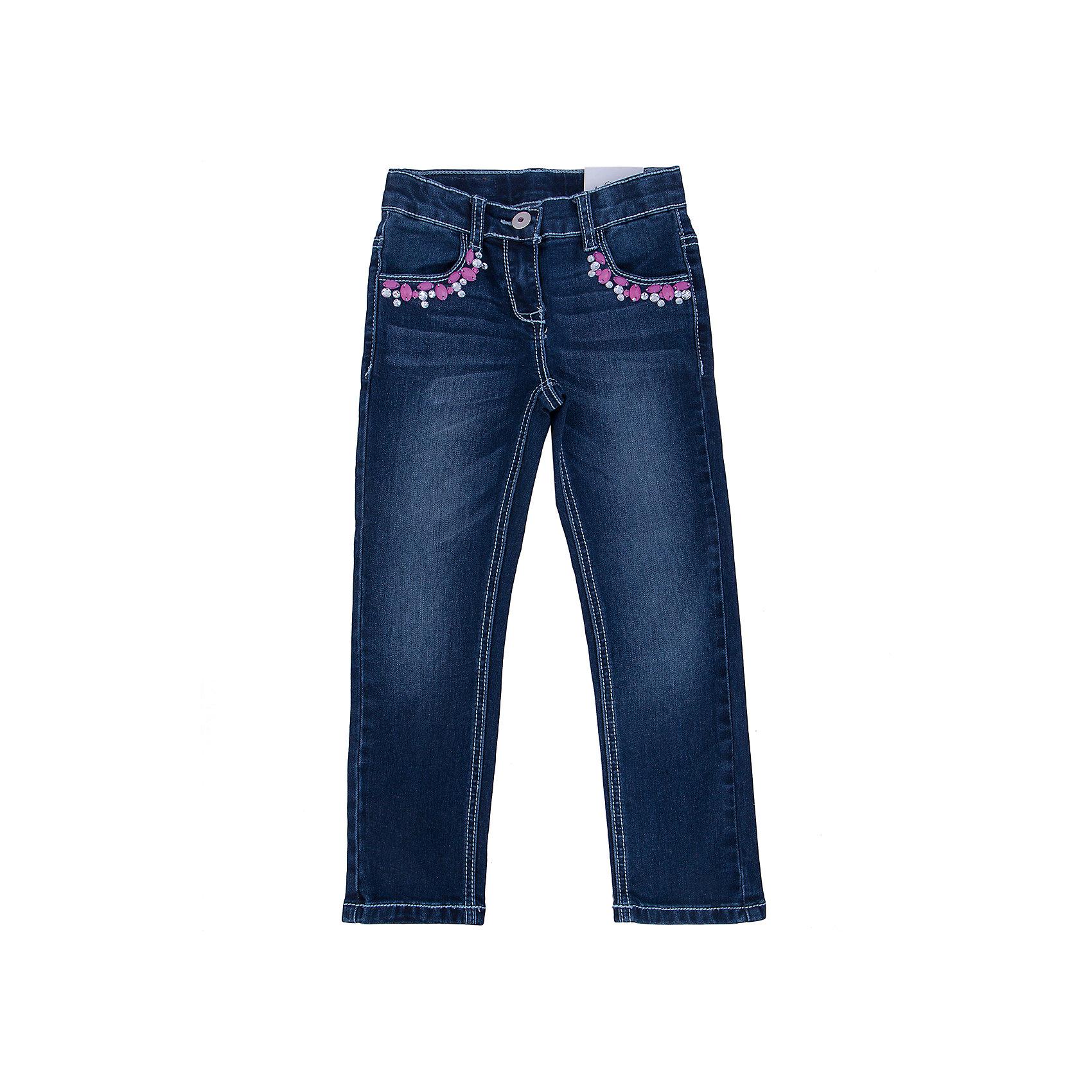 Джинсы для девочки PlayTodayДжинсовая одежда<br>Джинсы для девочки от известного бренда PlayToday.<br>Стильные джинсы прямого кроя. Застегиваются на молнию и пуговицу. Украшены крупными сверкающими стразами. Есть 4 функциональных кармана.<br>Состав:<br>75% хлопок, 23% полиэстер, 2% эластан<br><br>Ширина мм: 215<br>Глубина мм: 88<br>Высота мм: 191<br>Вес г: 336<br>Цвет: синий<br>Возраст от месяцев: 72<br>Возраст до месяцев: 84<br>Пол: Женский<br>Возраст: Детский<br>Размер: 122,104,128,110,116,98<br>SKU: 4896971