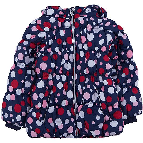 Куртка для девочки PlayTodayЗимние куртки<br>Куртка для девочки от известного бренда PlayToday.<br>Мягкая и теплая стеганая куртка. Украшена ярким принтом в цветной горошек. Садится точно по фигуре ребенка, надежно защищая от ветра, снега и дождя. Застегивается на молнию с защитой подбородка и фигурным пуллером сердечком. На рукавах трикотажные манжеты. Внутри подкладка таффета. Капюшон утягивается стопперами, есть два кармана на липучках.<br>Состав:<br>Верх: 100% полиэстер, Подкладка: 100% полиэстер, Наполнитель: 100% полиэстер, 250 г/м2<br><br>Ширина мм: 356<br>Глубина мм: 10<br>Высота мм: 245<br>Вес г: 519<br>Цвет: белый<br>Возраст от месяцев: 48<br>Возраст до месяцев: 60<br>Пол: Женский<br>Возраст: Детский<br>Размер: 110,104,122,98,116,128<br>SKU: 4897096