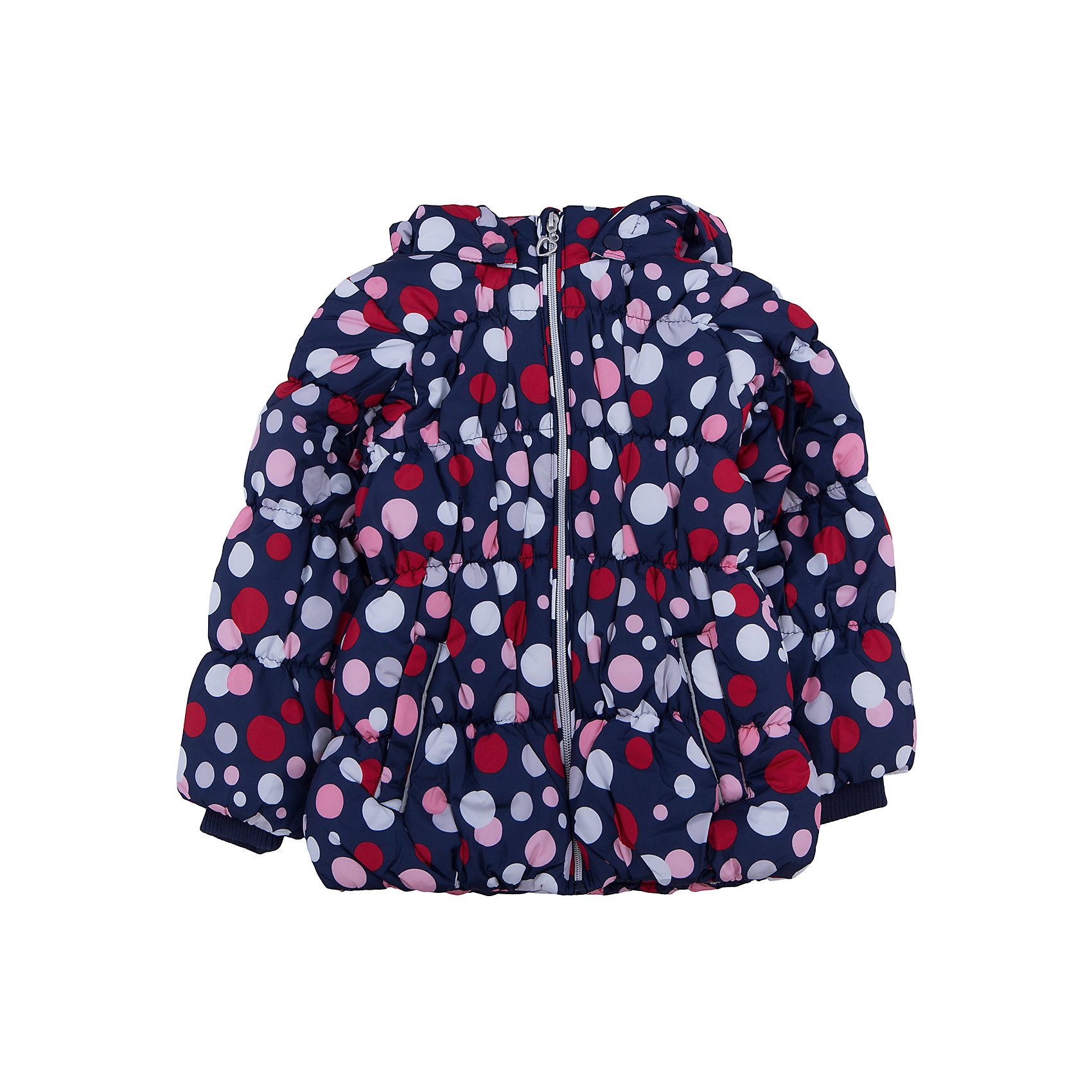 Куртка для девочки PlayTodayКуртка для девочки от известного бренда PlayToday.<br>Мягкая и теплая стеганая куртка. Украшена ярким принтом в цветной горошек. Садится точно по фигуре ребенка, надежно защищая от ветра, снега и дождя. Застегивается на молнию с защитой подбородка и фигурным пуллером сердечком. На рукавах трикотажные манжеты. Внутри подкладка таффета. Капюшон утягивается стопперами, есть два кармана на липучках.<br>Состав:<br>Верх: 100% полиэстер, Подкладка: 100% полиэстер, Наполнитель: 100% полиэстер, 250 г/м2<br><br>Ширина мм: 356<br>Глубина мм: 10<br>Высота мм: 245<br>Вес г: 519<br>Цвет: разноцветный<br>Возраст от месяцев: 36<br>Возраст до месяцев: 48<br>Пол: Женский<br>Возраст: Детский<br>Размер: 104,122,98,110,116,128<br>SKU: 4897096