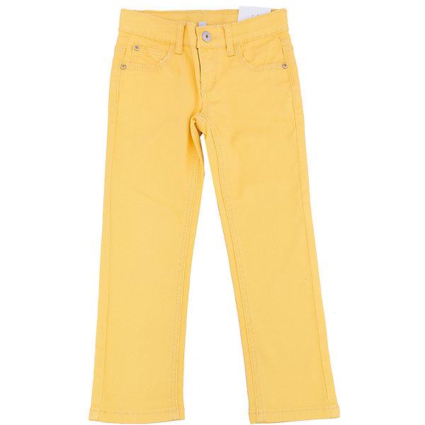 Брюки для девочки PlayTodayБрюки<br>Брюки для девочки от известного бренда PlayToday.<br>Яркие твиловые брюки лимонного цвета. Застегиваются на молнию и пуговицу, есть шлевки для ремня. Стильная отделка металлическими клепками со сверкающими стразами.<br>Состав:<br>98% хлопок, 2% эластан<br><br>Ширина мм: 215<br>Глубина мм: 88<br>Высота мм: 191<br>Вес г: 336<br>Цвет: желтый<br>Возраст от месяцев: 36<br>Возраст до месяцев: 48<br>Пол: Женский<br>Возраст: Детский<br>Размер: 104,122,98,116,110,128<br>SKU: 4897152