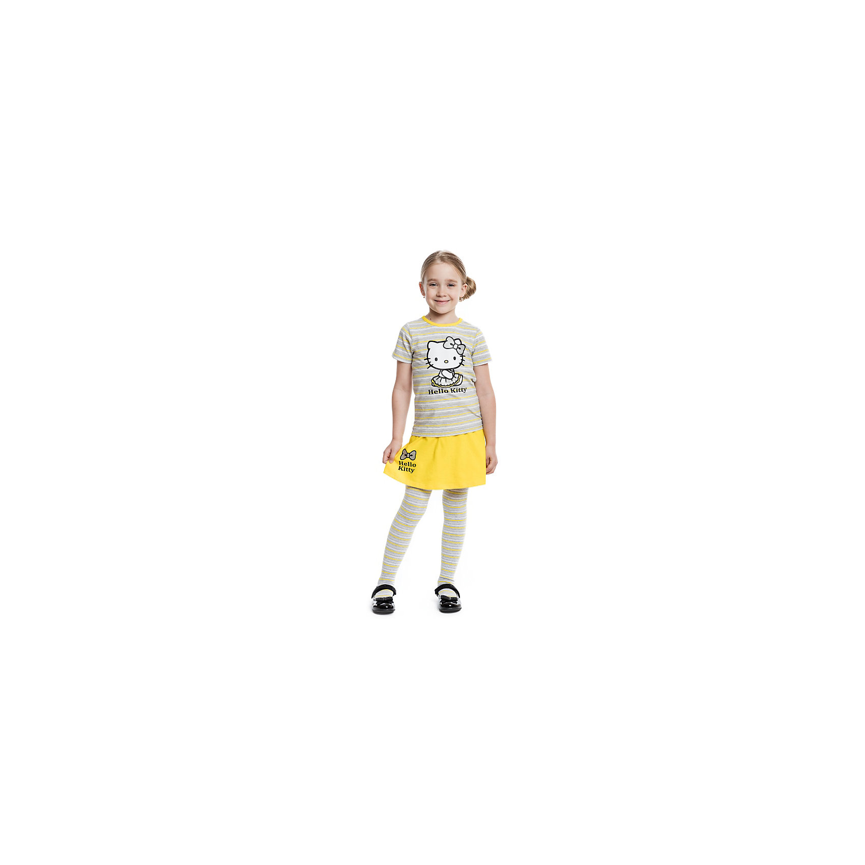 Комплект: футболка и юбка для девочки PlayTodayКомплект: футболка и юбка для девочки от известного бренда PlayToday.<br>Яркий комплект изх футболки с короткими рукавами и юбки. Футболка украшена лицензионным принтом Hello Kitty. Пояс юбки на мягкой резинке. Декорирована объемным бантиком и резиновым принтом с надписью.<br>Состав:<br>95% хлопок, 5% эластан<br><br>Ширина мм: 207<br>Глубина мм: 10<br>Высота мм: 189<br>Вес г: 183<br>Цвет: разноцветный<br>Возраст от месяцев: 84<br>Возраст до месяцев: 96<br>Пол: Женский<br>Возраст: Детский<br>Размер: 128,104,110,116,98,122<br>SKU: 4897159