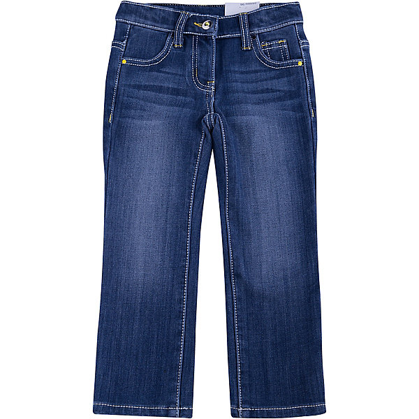 Джинсы для девочки PlayTodayДжинсы<br>Джинсы для девочки от известного бренда PlayToday.<br>Удобные джинсы с модными потертостями. Внутри мягкая флисовая подкладка. Застегиваются на молнию и пуговицу с ярким сверкающим кристаллом. Классическая пятикарманка.<br>Состав:<br>62% хлопок, 23% вискоза, 13% полиэстер, 2% эластан<br><br>Ширина мм: 215<br>Глубина мм: 88<br>Высота мм: 191<br>Вес г: 336<br>Цвет: синий<br>Возраст от месяцев: 24<br>Возраст до месяцев: 36<br>Пол: Женский<br>Возраст: Детский<br>Размер: 98,104,122,116,110,128<br>SKU: 4897229
