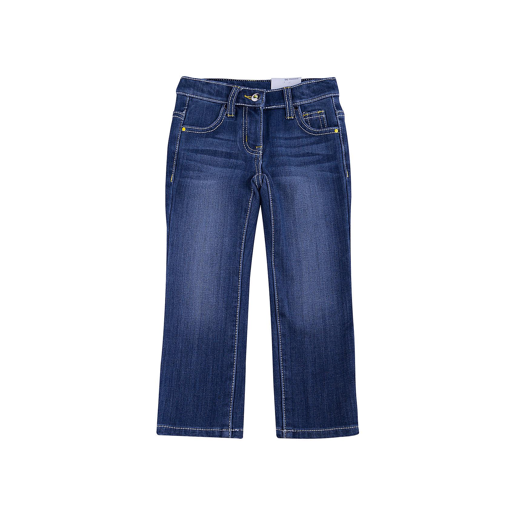 Джинсы для девочки PlayTodayДжинсы<br>Джинсы для девочки от известного бренда PlayToday.<br>Удобные джинсы с модными потертостями. Внутри мягкая флисовая подкладка. Застегиваются на молнию и пуговицу с ярким сверкающим кристаллом. Классическая пятикарманка.<br>Состав:<br>62% хлопок, 23% вискоза, 13% полиэстер, 2% эластан<br><br>Ширина мм: 215<br>Глубина мм: 88<br>Высота мм: 191<br>Вес г: 336<br>Цвет: синий<br>Возраст от месяцев: 72<br>Возраст до месяцев: 84<br>Пол: Женский<br>Возраст: Детский<br>Размер: 122,104,128,110,116,98<br>SKU: 4897229