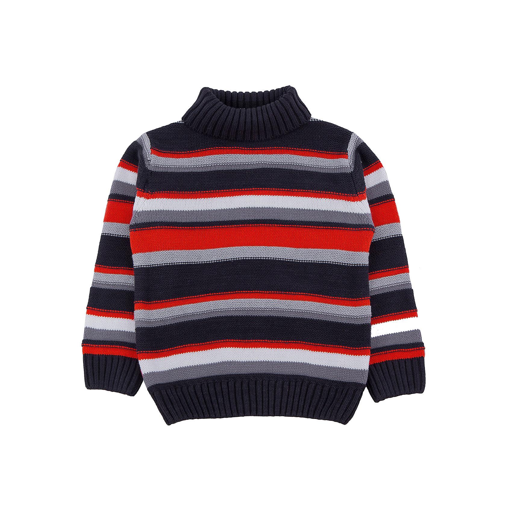 Свитер для мальчика PlayTodayСвитера и кардиганы<br>Свитер для мальчика от известного бренда PlayToday.<br>Уютный свитер в яркую полоску. Высокий воротник надежно защитит от ветра. Рукава и низ на широкой вязаной резинке.<br>Состав:<br>60% хлопок, 40% акрил<br><br>Ширина мм: 190<br>Глубина мм: 74<br>Высота мм: 229<br>Вес г: 236<br>Цвет: разноцветный<br>Возраст от месяцев: 84<br>Возраст до месяцев: 96<br>Пол: Мужской<br>Возраст: Детский<br>Размер: 128,110,98,116,122,104<br>SKU: 4897337