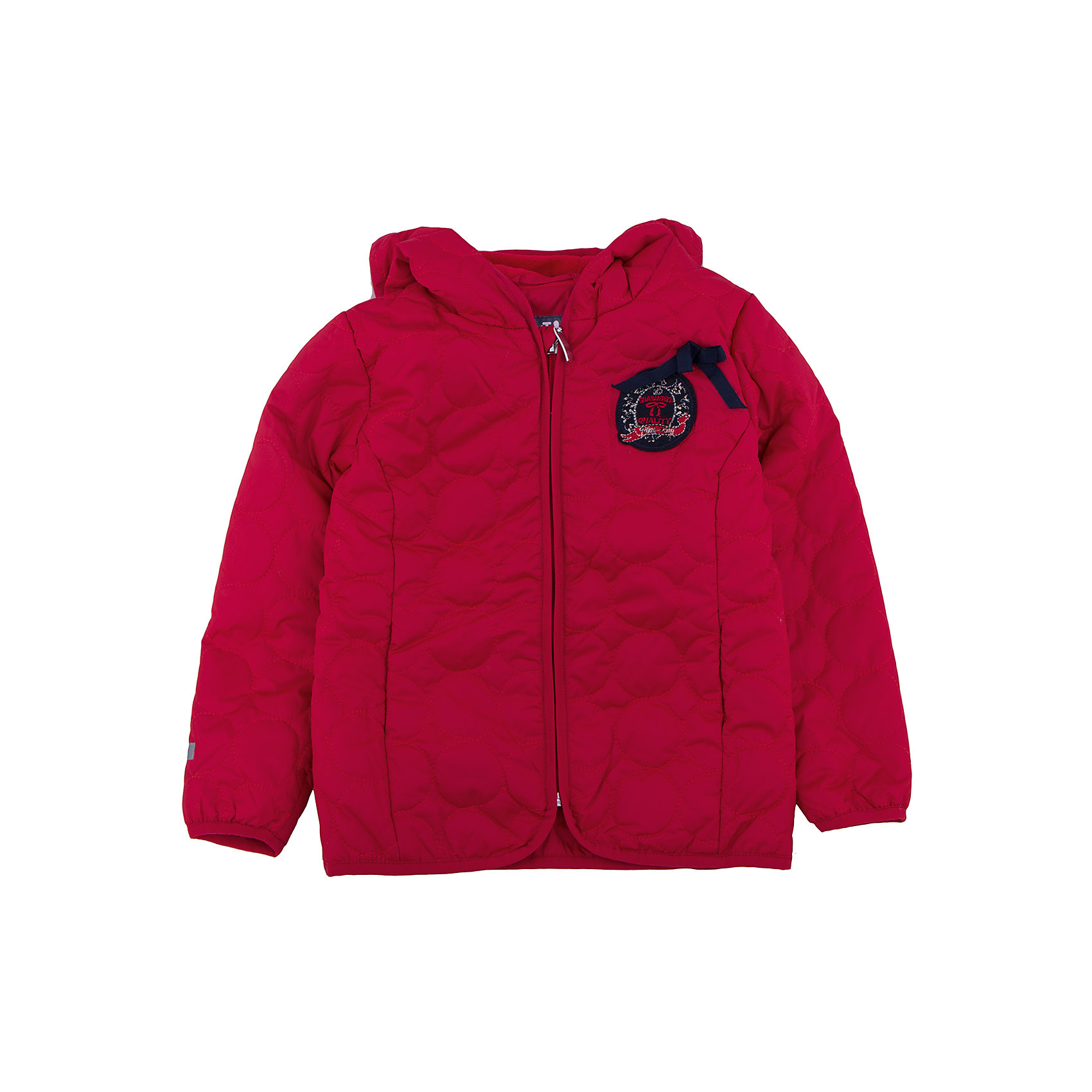 Куртка для девочки PlayTodayКуртка для девочки от известного бренда PlayToday.<br>Стильная красная куртка с фигурной стежкой.  Отсутствие большого количества синтепона компенсируется теплой флисовой подкладкой. Куртка легкая и удобная, но в ней можно гулять хоть весь день. Застегивается на молнию с защитой подбородка. Края обработаны мягким эластичным кантом для защиты от ветра.<br>Состав:<br>Верх: 100% полиэстер, Подкладка: 100% полиэстер, Наполнитель: 100% полиэстер, 150 г/м2<br><br>Ширина мм: 356<br>Глубина мм: 10<br>Высота мм: 245<br>Вес г: 519<br>Цвет: красный<br>Возраст от месяцев: 36<br>Возраст до месяцев: 48<br>Пол: Женский<br>Возраст: Детский<br>Размер: 104,122,98,110,116,128<br>SKU: 4897537