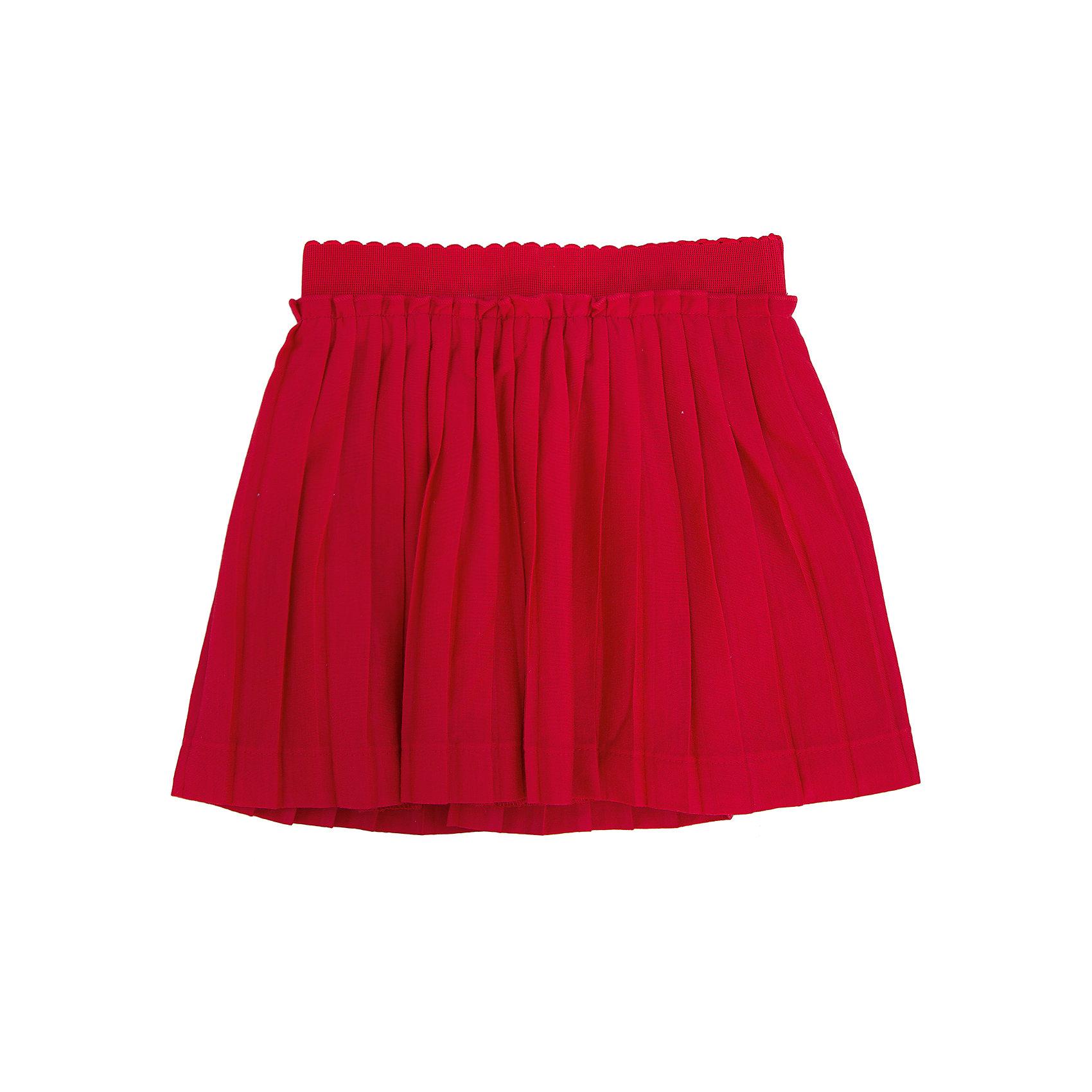 Юбка для девочки PlayTodayЮбки<br>Юбка для девочки от известного бренда PlayToday.<br>Воздушная плиссированная юбка яркого красного цвета. Внутри мягкая трикотажная подкладка, пояс на резинке.<br>Состав:<br>Верх: 100% полиэстер, Подкладка: 100% хлопок<br><br>Ширина мм: 207<br>Глубина мм: 10<br>Высота мм: 189<br>Вес г: 183<br>Цвет: красный<br>Возраст от месяцев: 36<br>Возраст до месяцев: 48<br>Пол: Женский<br>Возраст: Детский<br>Размер: 104,122,128,116,98,110<br>SKU: 4897664