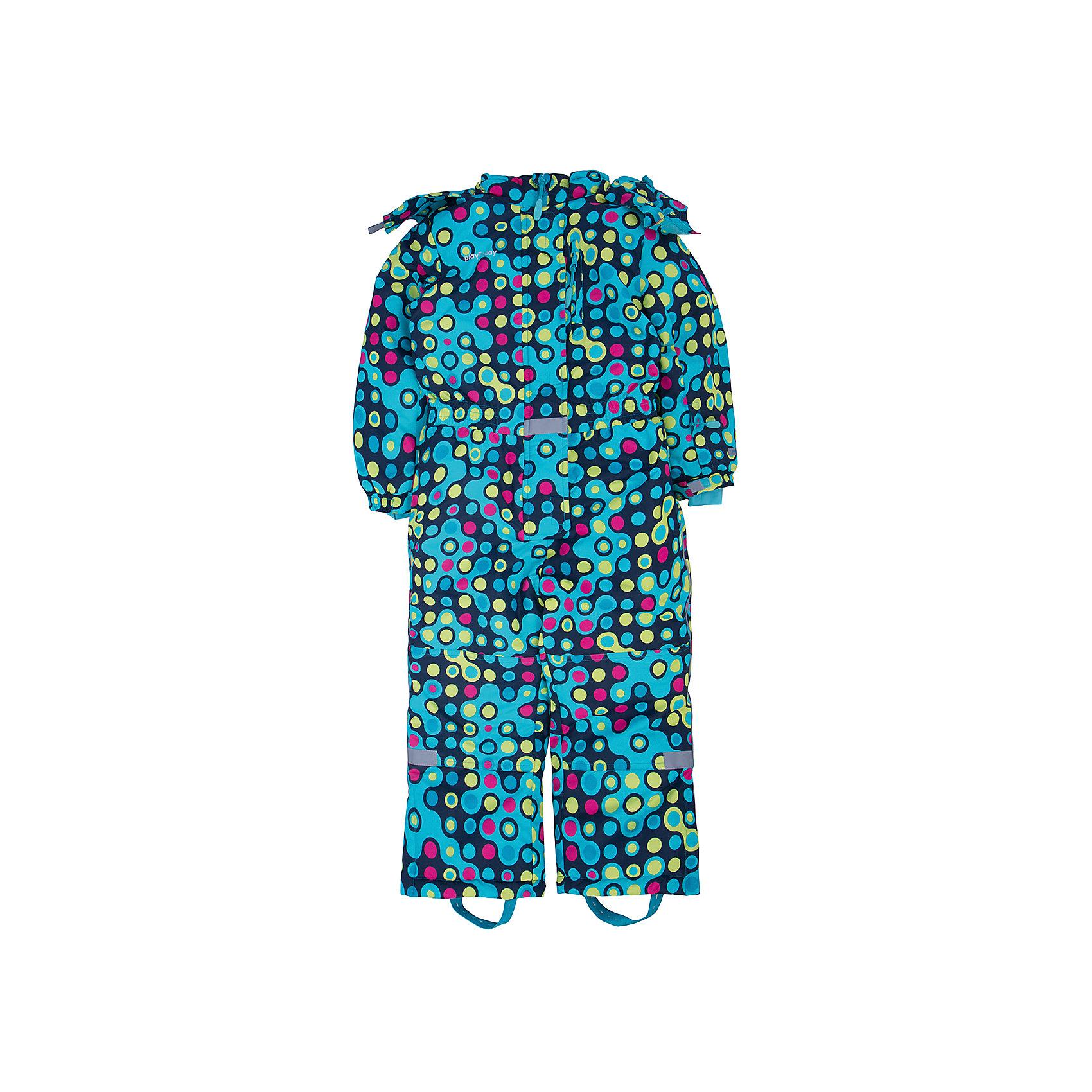 Комбинезон для девочки PlayTodayВерхняя одежда<br>Комбинезон для девочки от известного бренда PlayToday.<br>Уютный теплый комбинезон с капюшоном. Украшен принтом с эффектом неоновых огней. Внутри уютная флисовая подкладка. Застегивается на молнию с защитой подбородка, есть ветрозащитная планка, как на спортивной одежде. Капюшон удобно отстегивается, воротник на липучке. Рукава и пояс на резинке, есть три функциональных кармашка на молнии. Низ штанишек застегивается на молнию, чтобы удобно обуваться. Специальная резинка на пуговицах позволяет закреплять комбинезон под обувью. Есть дополнительный слой - снегозащита, который надевается на сапоги.<br>Состав:<br>Верх: 100% полиэстер, Подкладка: 100% полиэстер, Наполнитель: 100% полиэстер, 200 г/м2<br><br>Ширина мм: 215<br>Глубина мм: 88<br>Высота мм: 191<br>Вес г: 336<br>Цвет: разноцветный<br>Возраст от месяцев: 36<br>Возраст до месяцев: 48<br>Пол: Женский<br>Возраст: Детский<br>Размер: 104,128,98,134,140,110,116,122<br>SKU: 4897741
