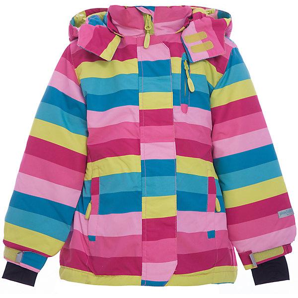 Куртка для девочки PlayTodayВерхняя одежда<br>Куртка для девочки от известного бренда PlayToday.<br>Яркая полосатая куртка из непромокаемой плащевки. Создана с учетом всех фишек горнолыжной одежды. Застегивается на молнию с защитой подбородка, есть ветрозащитная планка на липучках, как в спортивной одежде. Внутри уютная флисовая подкладка. Капюшон на кнопках, на воротнике застегивается на липучки. Три функциональных кармана на молнии. Внутри есть специальная ветрозащитная юбочка, застегнув которую вы надежно защитите ребенка от снега, дождя и ветра. Низ куртки утягивается стопперами. На рукавах трикотажные манжеты с отверстием под палец.<br>Состав:<br>Верх: 100% полиэстер, Подкладка: 100% полиэстер, Наполнитель: 100% полиэстер, 150 г/м2<br>Ширина мм: 356; Глубина мм: 10; Высота мм: 245; Вес г: 519; Цвет: белый; Возраст от месяцев: 24; Возраст до месяцев: 36; Пол: Женский; Возраст: Детский; Размер: 98,122,104,110,128,116; SKU: 4897750;