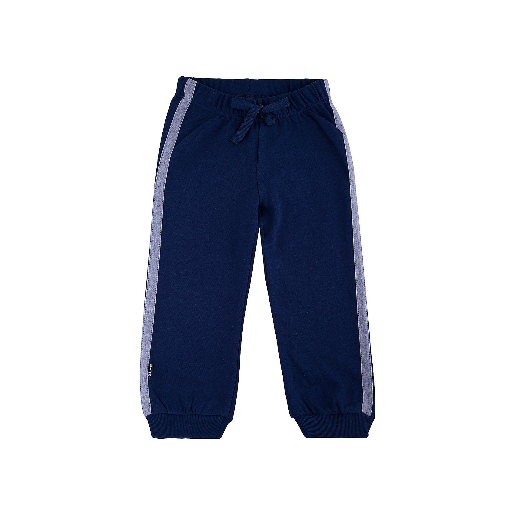 Брюки для мальчика PlayTodayБрюки для мальчика от известного бренда PlayToday.<br>Стильные брюки из футера в спортивном стиле. Пояс на резинке, дополнительно регулируется тесьмой. По бокам лампасы цвета серый меланж. Низ штанишек на широкой трикотажной резинке.<br>Состав:<br>80% хлопок, 20% полиэстер<br><br>Ширина мм: 215<br>Глубина мм: 88<br>Высота мм: 191<br>Вес г: 336<br>Цвет: разноцветный<br>Возраст от месяцев: 36<br>Возраст до месяцев: 48<br>Пол: Мужской<br>Возраст: Детский<br>Размер: 122,98,104,116,110,140,134,128<br>SKU: 4897854