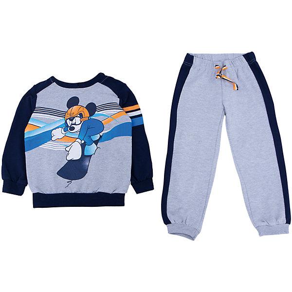 Комплект: толстовка и брюки для мальчика PlayTodayКомплекты<br>Комплект: толстовка и брюки для мальчика от известного бренда PlayToday.<br>Уютный комплект из толстовки и брюк в спортивном стиле. <br>Толстовка украшена лицензионным диснеевским принтом с забавным Микки-Маусом. Рукава и низ на широкой трикотажной резинке, есть капюшон.<br>Пояс брюк на мягкой резинке, дополнительно утягивается яркой тесьмой. По бокам контрастные темно-синие лампасы. Низ штанишек на широкой трикотажной резинке. <br>Состав:<br>80% хлопок, 20% полиэстер<br>Ширина мм: 215; Глубина мм: 88; Высота мм: 191; Вес г: 336; Цвет: синий; Возраст от месяцев: 24; Возраст до месяцев: 36; Пол: Мужской; Возраст: Детский; Размер: 98,122,116,110,104,140,134,128; SKU: 4897877;