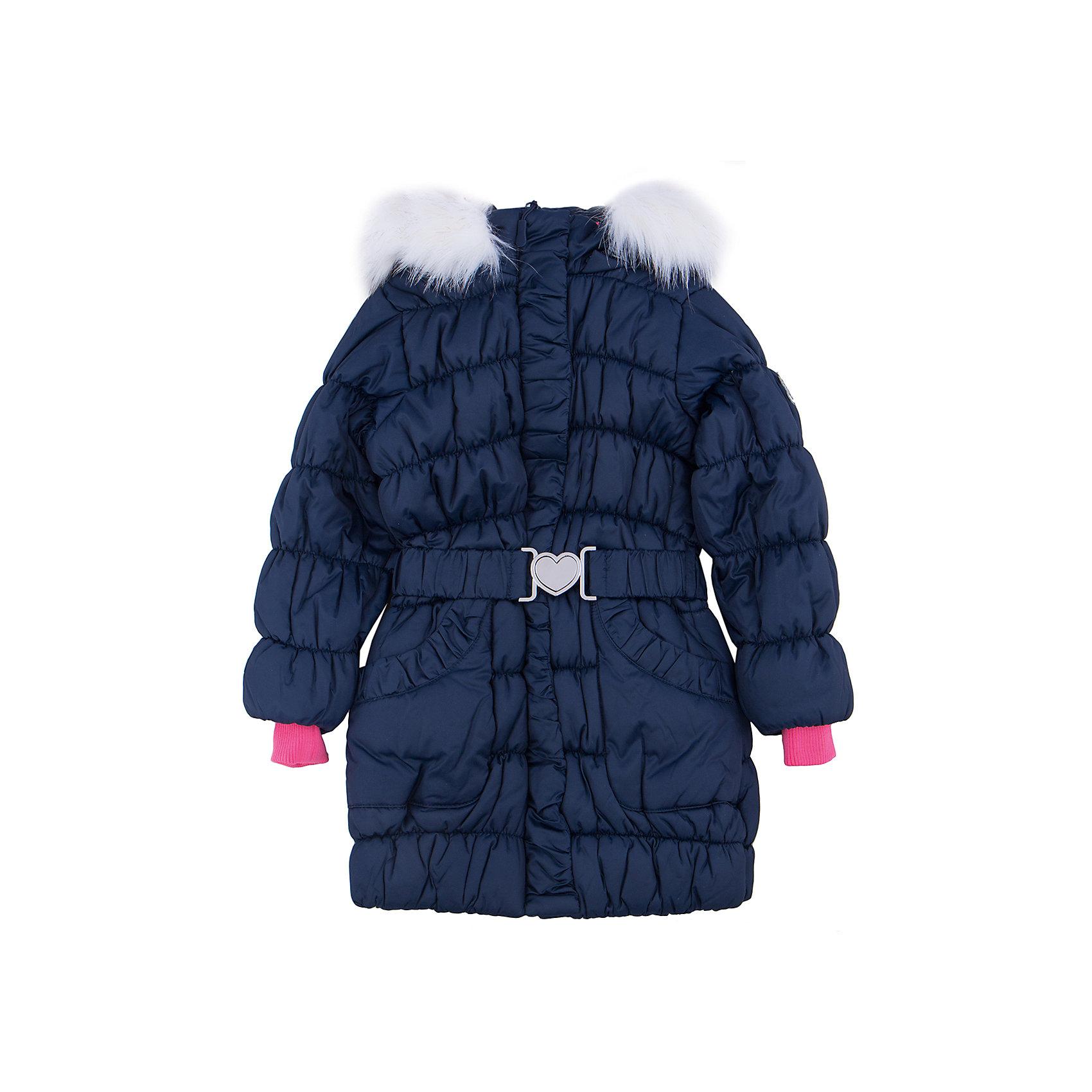 Пальто для девочки PlayTodayВерхняя одежда<br>Пальто для девочки от известного бренда PlayToday.<br>Теплое удлиненное пальто. Рукава и пояс на резинке. Застегивается на молнию, есть два функциональных кармана. Капюшон украшен искусственным белым мехом.<br>Состав:<br>Верх: 100% полиэстер, Подкладка: 100% полиэстер, Наполнитель: 100% полиэстер, 260 г/м2<br><br>Ширина мм: 356<br>Глубина мм: 10<br>Высота мм: 245<br>Вес г: 519<br>Цвет: синий<br>Возраст от месяцев: 36<br>Возраст до месяцев: 48<br>Пол: Женский<br>Возраст: Детский<br>Размер: 104,122,128,98,110,116<br>SKU: 4897976
