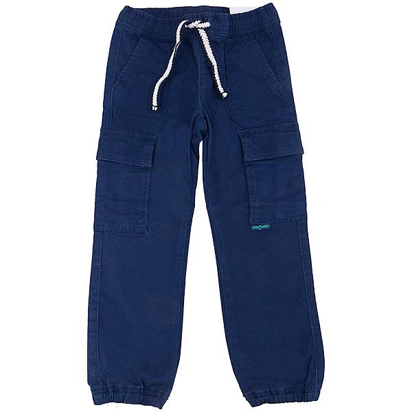 Брюки для мальчика PlayTodayБрюки<br>Брюки для мальчика от известного бренда PlayToday.<br>Стильные твиловые брюки темно-синего цвета. Пояс на резинке, дополнительно регулируется плетеной тесьмой. Есть 5 функциональных карманов. Низ штанишек на резинке.<br>Состав:<br>98% хлопок, 2% эластан<br>Ширина мм: 215; Глубина мм: 88; Высота мм: 191; Вес г: 336; Цвет: синий; Возраст от месяцев: 24; Возраст до месяцев: 36; Пол: Мужской; Возраст: Детский; Размер: 98,104,122,116,110,128; SKU: 4898159;