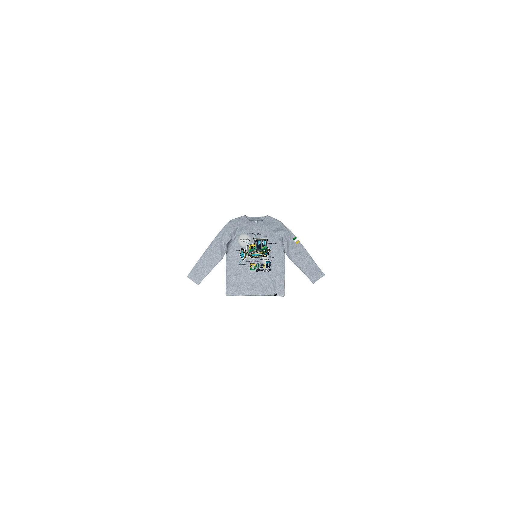 Футболка с длинным рукавом для мальчика PlayTodayФутболки с длинным рукавом<br>Футболка с длинным рукавом для мальчика от известного бренда PlayToday.<br>Мягкая хлопковая футболка с длинными рукавами. Украшена стильным резиновым принтом, на воротнике трикотажная резинка. Универсальный цвет серый меланж позволяет сочетать ее с любой одеждой.<br>Состав:<br>95% хлопок, 5% эластан<br><br>Ширина мм: 199<br>Глубина мм: 10<br>Высота мм: 161<br>Вес г: 151<br>Цвет: серый<br>Возраст от месяцев: 72<br>Возраст до месяцев: 84<br>Пол: Мужской<br>Возраст: Детский<br>Размер: 122,104,128,110,116,98<br>SKU: 4898201