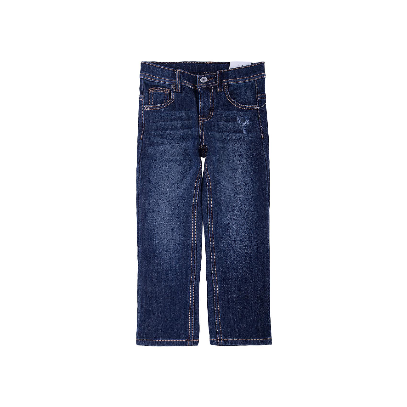 Джинсы для мальчика PlayTodayДжинсы для мальчика от известного бренда PlayToday.<br>Стильные джинсы с модными потертостями. Внутри утеплены уютным флисом. Застегиваются на молнию и пуговицу, есть шлевки для ремня. Классическая пятикарманка.<br>Состав:<br>62% хлопок, 23% вискоза, 13% полиэстер, 2% эластан<br><br>Ширина мм: 215<br>Глубина мм: 88<br>Высота мм: 191<br>Вес г: 336<br>Цвет: синий<br>Возраст от месяцев: 36<br>Возраст до месяцев: 48<br>Пол: Мужской<br>Возраст: Детский<br>Размер: 104,122,98,116,110,128<br>SKU: 4898278