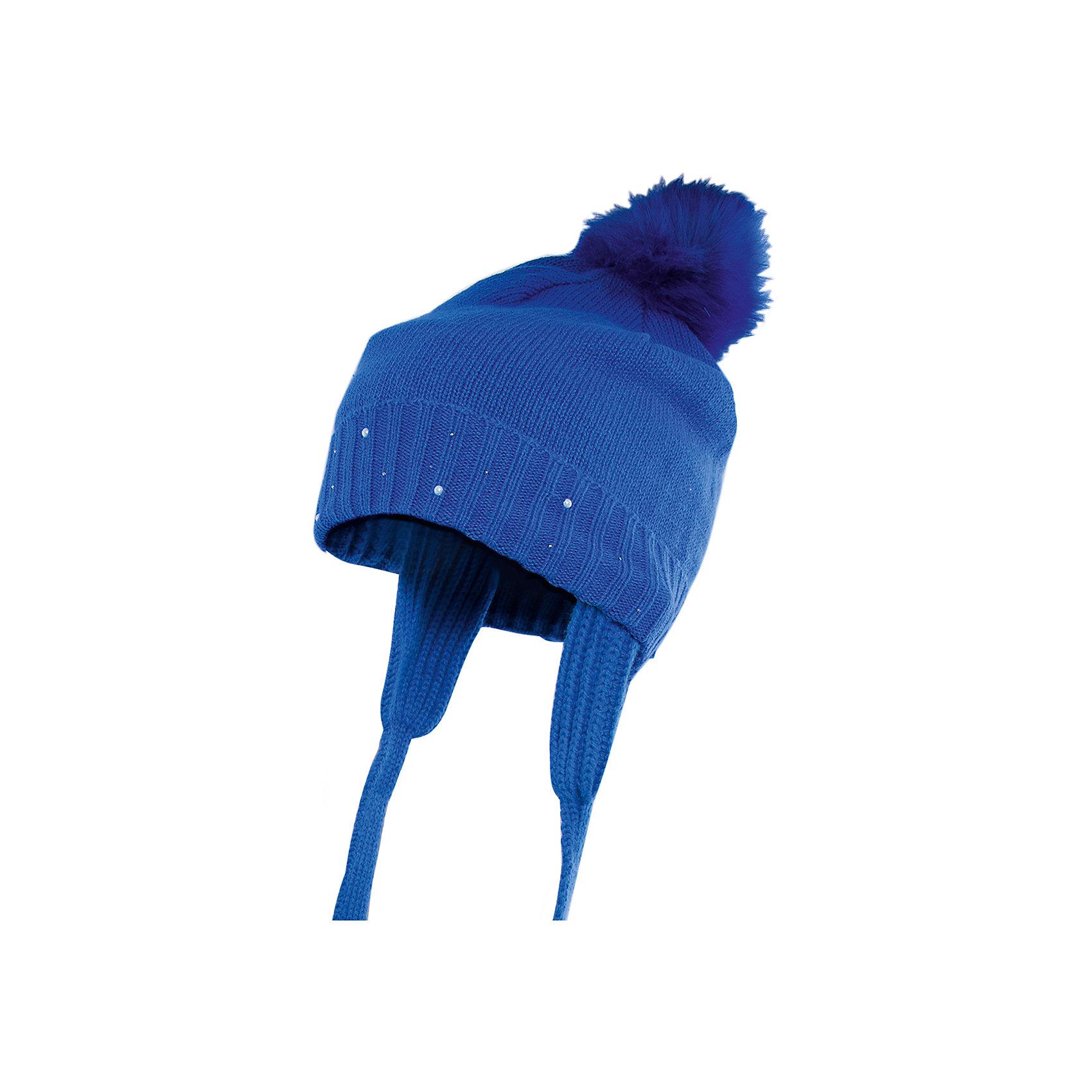Шапка для девочки PlayTodayГоловные уборы<br>Шапка для девочки от известного бренда PlayToday.<br>Теплая вязаная шапочка на завязках. Яркий цвет поднимет настроение в холодную погоду. Украшена меховым помпоном и сверкающими стразами.<br>Состав:<br>Верх: 60% хлопок, 40% акрил Подкладка: 100% полиэстер<br><br>Ширина мм: 89<br>Глубина мм: 117<br>Высота мм: 44<br>Вес г: 155<br>Цвет: синий<br>Возраст от месяцев: 24<br>Возраст до месяцев: 36<br>Пол: Женский<br>Возраст: Детский<br>Размер: 50,52,54<br>SKU: 4898436