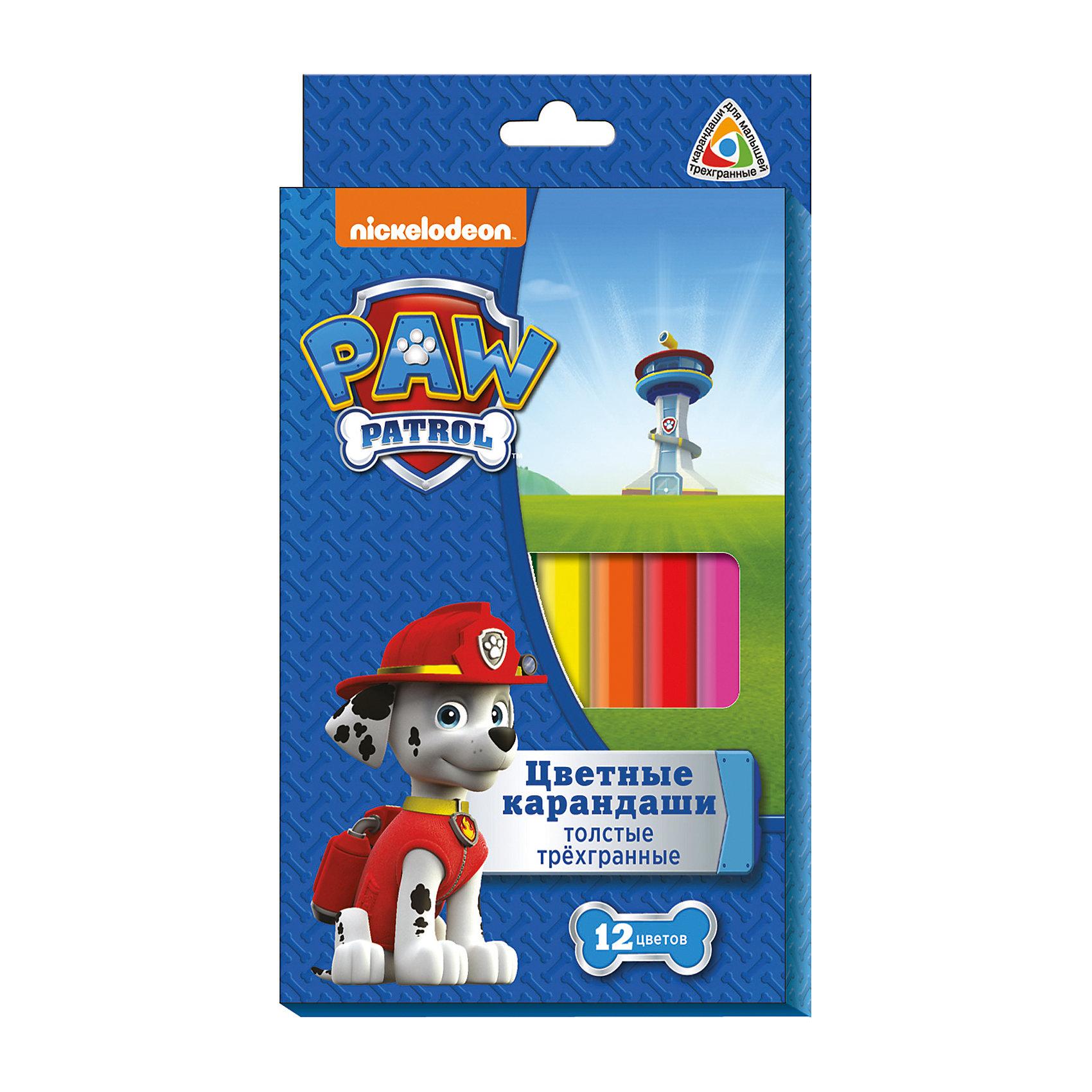 Трехгранные цветные карандаши Щенячий Патруль, 12 цв.Цветные карандаши - незаменимая вещь для художественного творчества дома, в школе или детском саду, а карандашами, упакованными в коробку с изображениями любимых героев, рисовать приятнее вдвойне! Эти трехгранные карандаши сделаны специально для юных художников: маленькие пальчики без труда располагаются на поверхности карандаша, не допуская соскальзывания. Яркие цвета, прочный грифель и корпус из высококачественной древесины делают карандаши Щенячий Патруль идеальными для воплощения всех самых смелых художественных фантазий!<br><br>Дополнительная информация:<br><br>- Состав: древесина, цветной грифель.<br>- Размер упаковки: 18х1,3х1 см. <br>- Длина карандаша: 17,5 см.<br>- Толщина карандаша: 1 см. <br>- Толщина грифеля: 0,4 см. <br>- 12 цветов.<br>- Прочный грифель не крошится при падении и не ломается при заточке. <br><br>Трехгранные цветные карандаши Щенячий Патруль (PAW Patrol), 12 цв., можно купить в нашем магазине.<br><br>Ширина мм: 180<br>Глубина мм: 113<br>Высота мм: 10<br>Вес г: 146<br>Возраст от месяцев: 36<br>Возраст до месяцев: 2147483647<br>Пол: Унисекс<br>Возраст: Детский<br>SKU: 4898540