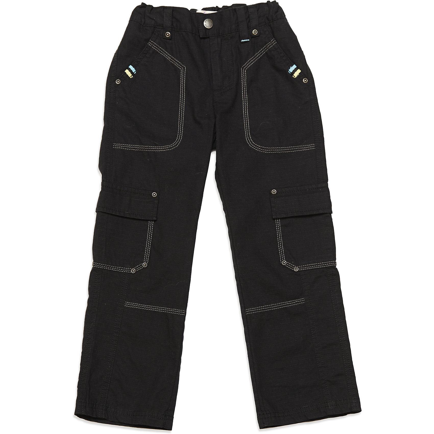 Брюки для мальчика PlayTodayБрюки<br>Брюки для мальчика от известного бренда PlayToday.<br>* брюки на трикотажной подкладке<br>* пояс регулируется внутренней резинкой<br>* застежка - молния, пуговица<br>* модель в стиле casual со множеством функциональных карманов: боковые прорезные функциональные карманы и накладные карманы с клапанами на липучке<br>* низ брюк на внутренней резинке<br>Состав:<br>Верх: 100% хлопок, подкладка:100% полиэстер<br><br>Ширина мм: 215<br>Глубина мм: 88<br>Высота мм: 191<br>Вес г: 336<br>Цвет: синий<br>Возраст от месяцев: 72<br>Возраст до месяцев: 84<br>Пол: Мужской<br>Возраст: Детский<br>Размер: 122,104,128,110,116,98<br>SKU: 4900179
