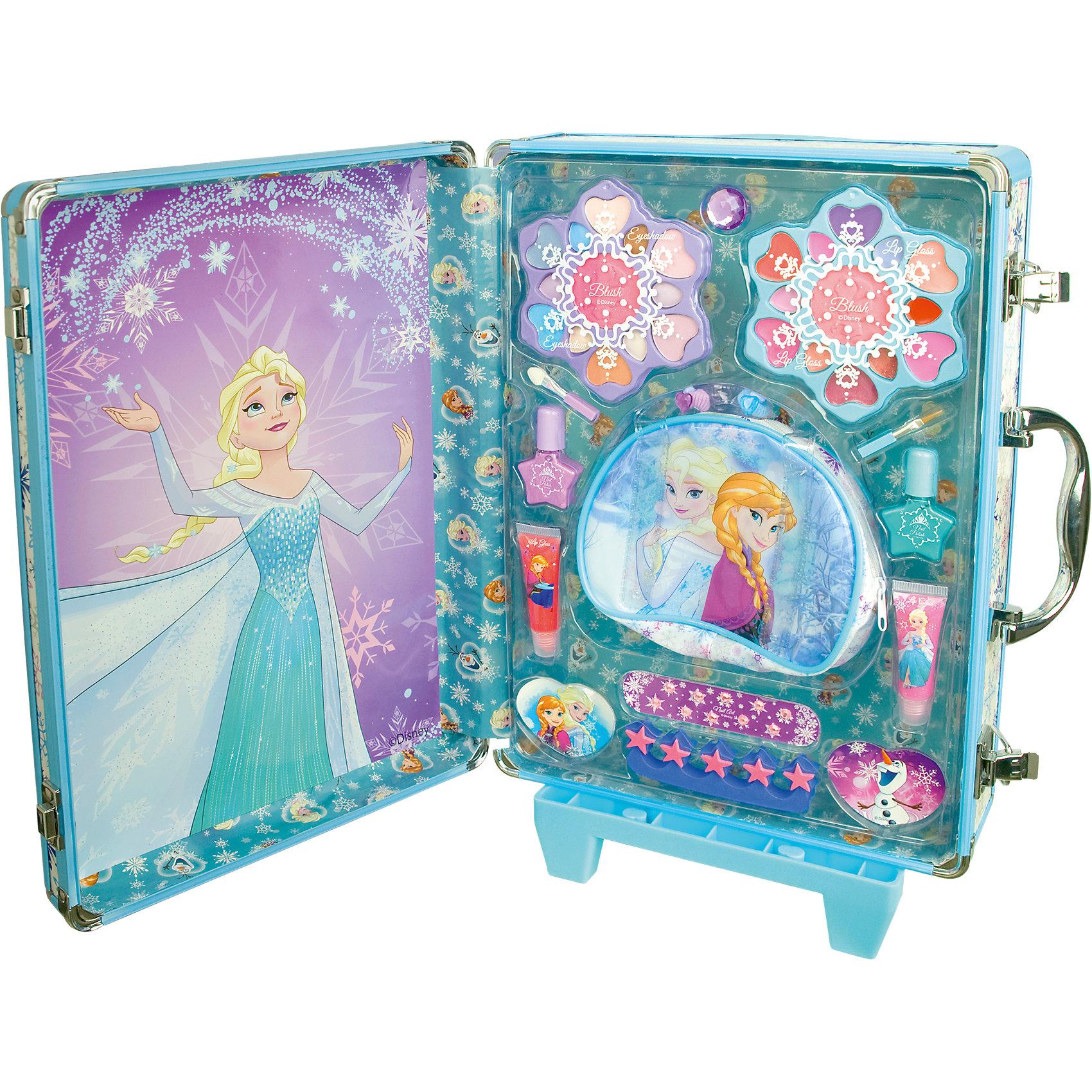 Игровой набор детской декоративной косметики в дорожном чемодане, Холодное сердце