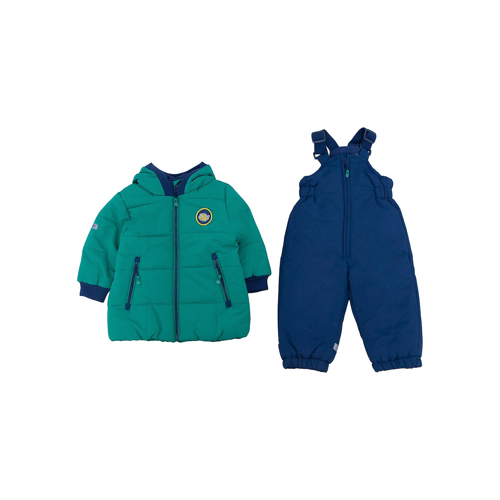 Комплект: куртка и полукомбинезон для мальчика PlayTodayКомплекты<br>Комплект: куртка и полукомбинезон для мальчика от известного бренда PlayToday.<br>Теплый комплект из стеганой куртки и полукомбинезона. <br>Куртка яркого изумрудно-зеленого цвета. Удобно застегивается на молнию. Внутри уютная хлопковая подкладка. Рукава и капюшон на мягкой трикотажной резинке для защиты от ветра. Есть два функциональных кармана на молнии и светоотражатели. Украшена шевроном с динозавриком.<br>Полукомбинезон застегивается на молнию. Бретели регулируются по длине, низ штанишек утягивается на резинке. Внутри мягкая хлопковая подкладка. Специальная отстегивающаяся рези<br>Состав:<br>Верх: 100% полиэстер, подкладка: 60% хлопок, 40% полиэстер, наполнитель: 100% полиэстер, 250 г/м2<br><br>Ширина мм: 157<br>Глубина мм: 13<br>Высота мм: 119<br>Вес г: 200<br>Цвет: разноцветный<br>Возраст от месяцев: 6<br>Возраст до месяцев: 9<br>Пол: Мужской<br>Возраст: Детский<br>Размер: 74,92,80,86<br>SKU: 4900349
