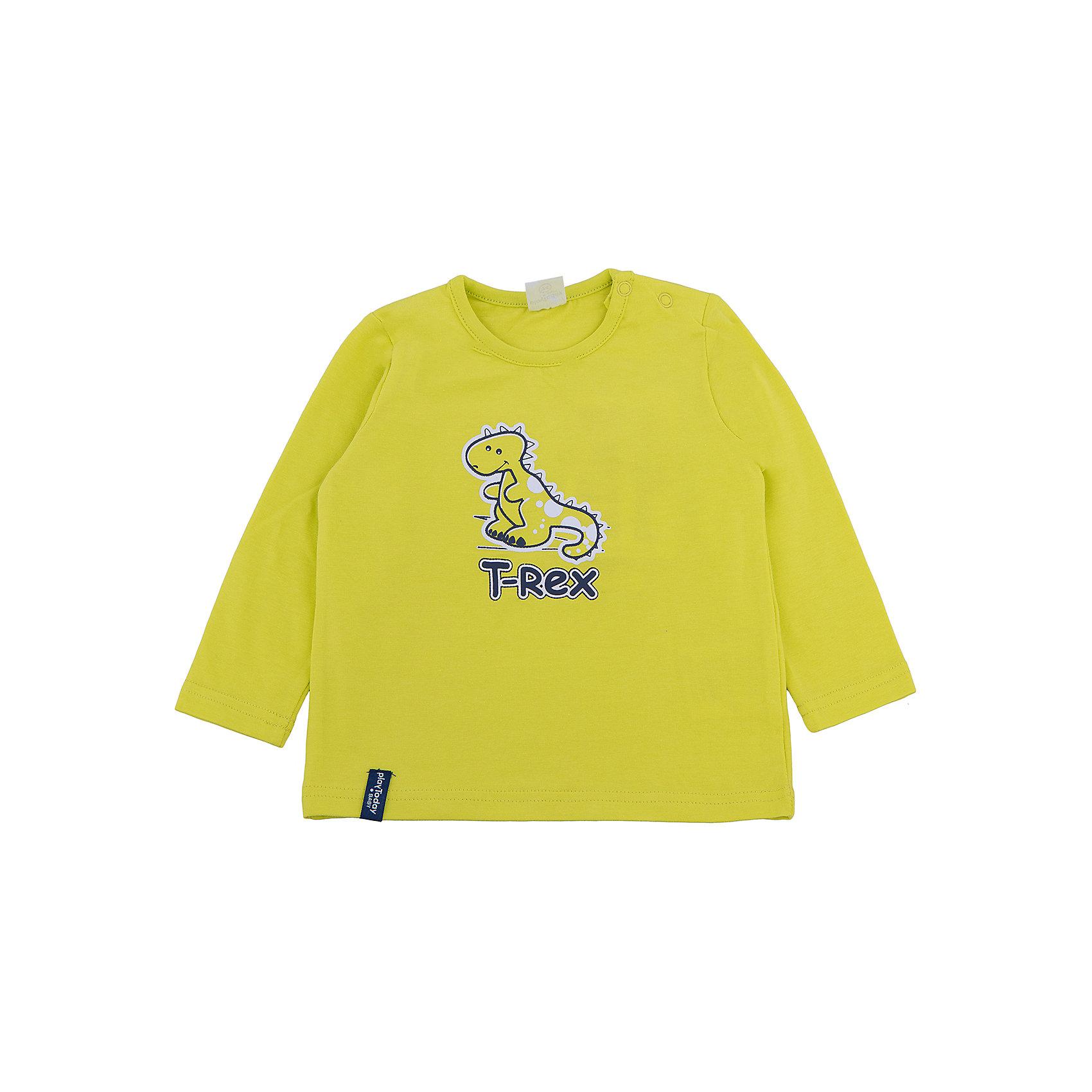 PlayToday Футболка с длинным рукавом для мальчика PlayToday футболка с длинным рукавом для мальчика barkito трактор красная