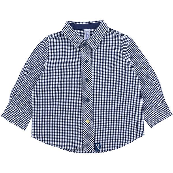 Рубашка для мальчика PlayTodayБлузки и рубашки<br>Рубашка для мальчика от известного бренда PlayToday.<br>Стильная сорочка в мелкую темно-синюю клетку. Застегивается на кнопки. Классический отложной воротничок. Манжеты на двух кнопках - темно-синей и контрастной ярко-желтой.<br>Состав:<br>100% хлопок<br>Ширина мм: 157; Глубина мм: 13; Высота мм: 119; Вес г: 200; Цвет: синий; Возраст от месяцев: 12; Возраст до месяцев: 18; Пол: Мужской; Возраст: Детский; Размер: 86,74,80,92; SKU: 4900451;