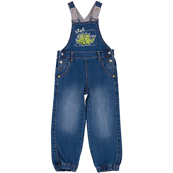 Полукомбинезон джинсовый для мальчика PlayTodayКомбинезоны<br>Полукомбинезон для мальчика от известного бренда PlayToday.<br>Стильный джинсовый полукомбинезон с модными потертостями. Украшен яркой аппликацией с милым динозавриком. Застегивается на пуговицы по бокам, бретели регулируются по длине.Есть шлевки для ремня. Низ штанишек на резинке.<br>Состав:<br>70% хлопок, 20% полиэстер, 8% вискоза, 2% эластан<br><br>Ширина мм: 157<br>Глубина мм: 13<br>Высота мм: 119<br>Вес г: 200<br>Цвет: синий<br>Возраст от месяцев: 12<br>Возраст до месяцев: 15<br>Пол: Мужской<br>Возраст: Детский<br>Размер: 80,92,86,74<br>SKU: 4900466