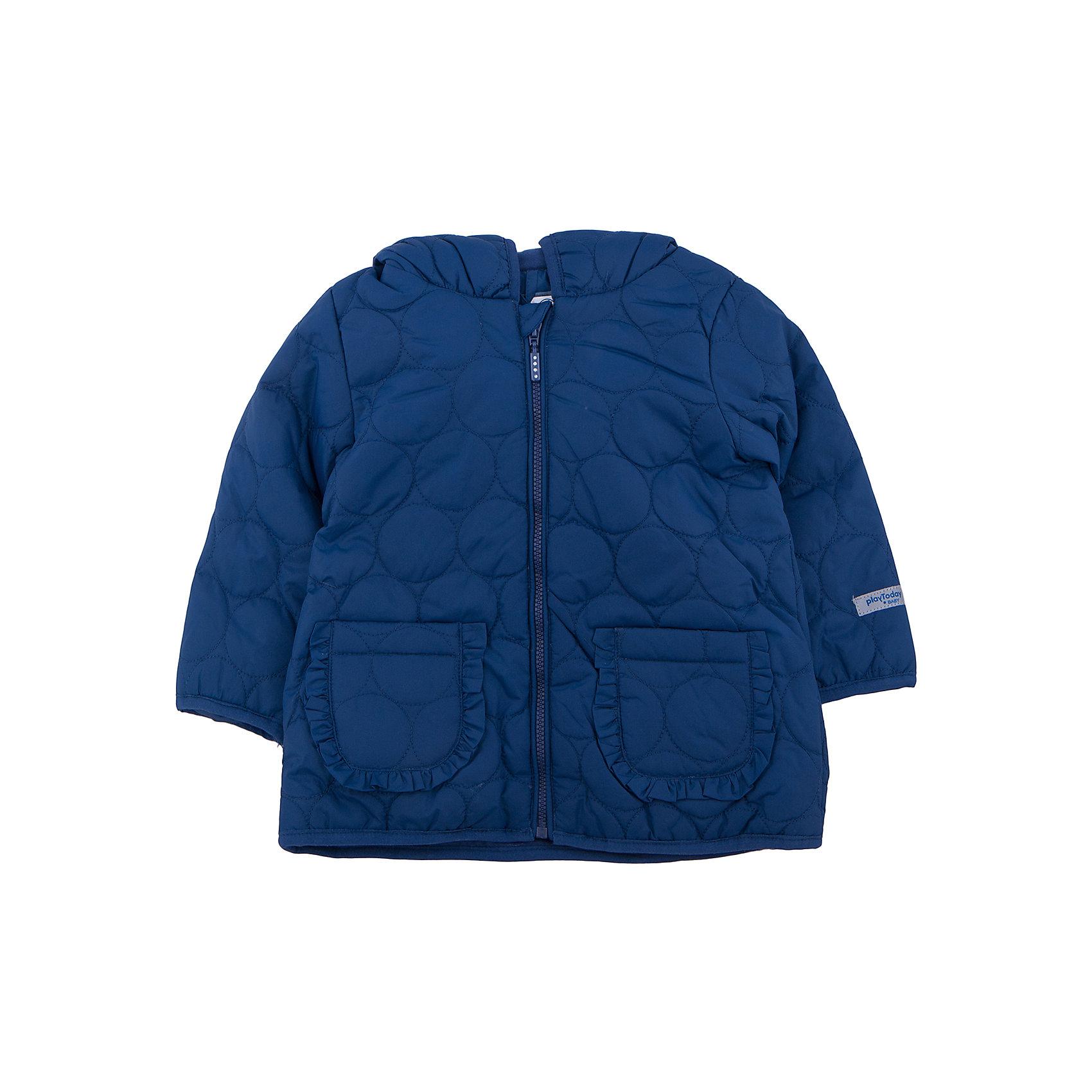 Куртка для девочки PlayTodayВерхняя одежда<br>Куртка для девочки от известного бренда PlayToday.<br>Мягкая хлопковая футболка с длинными рукавами. Украшена сердечком из блестящего глиттера. Удобно застегивается на кнопки на плече, чтобы ее легко было надевать.<br>Состав:<br>Верх: 100% полиэстер, подкладка: 60% хлопок, 40% полиэстер, наполнитель: 100% полиэстер, 100 г/м2<br><br>Ширина мм: 157<br>Глубина мм: 13<br>Высота мм: 119<br>Вес г: 200<br>Цвет: розовый<br>Возраст от месяцев: 6<br>Возраст до месяцев: 9<br>Пол: Женский<br>Возраст: Детский<br>Размер: 74,86,92,80<br>SKU: 4900519