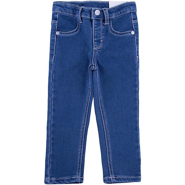 Джинсы для девочки PlayTodayПолзунки и штанишки<br>Джинсы для девочки от известного бренда PlayToday.<br>Стильные джинсы из футера с имитацией денима. Застегиваются на кнопку. Пояс эластичный, есть шлевки для ремня. Спереди имитация кармашков, сзади два функциональных кармана с вышивкой.<br>Состав:<br>78% хлопок, 20% полиэстер, 2% эластан<br>Ширина мм: 157; Глубина мм: 13; Высота мм: 119; Вес г: 200; Цвет: синий; Возраст от месяцев: 12; Возраст до месяцев: 18; Пол: Женский; Возраст: Детский; Размер: 86,80,92,74; SKU: 4900539;