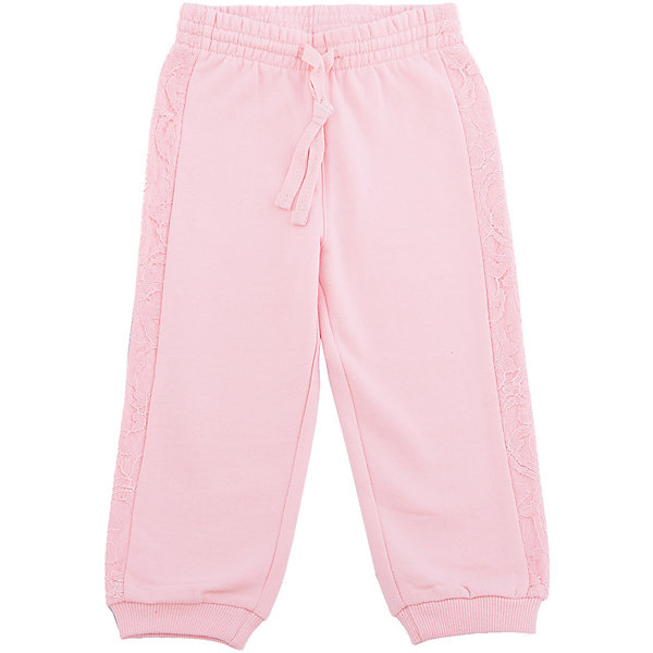 Брюки для девочки PlayTodayКомбинезоны<br>Брюки для девочки от известного бренда PlayToday.<br>Уютные розовые брюки из футера с начесом. Нежная кружевная отделка по бокам. Пояс на резинке, дополнительно регулируется тесьмой со сверкающей люрексной нитью. Низ штанишек на трикотажной резинке.<br>Состав:<br>80% хлопок, 20% полиэстер<br><br>Ширина мм: 157<br>Глубина мм: 13<br>Высота мм: 119<br>Вес г: 200<br>Цвет: розовый<br>Возраст от месяцев: 12<br>Возраст до месяцев: 18<br>Пол: Женский<br>Возраст: Детский<br>Размер: 92,74,80,86<br>SKU: 4900554