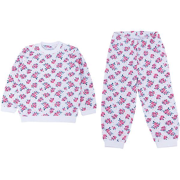 Пижама для девочки PlayTodayПижамы<br>Пижама для девочки от известного бренда PlayToday.<br>Уютный хлопковый комплект из футболки с длинными рукавами и брюк в нежный цветочек.<br>Рукава и низ толстовки на мягкой трикотажной резинке. Застегивается на кнопки на плече, чтобы ее удобно было снимать. <br>Пояс и низ брюк на резинке.<br>Состав:<br>95% хлопок, 5% эластан<br>Ширина мм: 157; Глубина мм: 13; Высота мм: 119; Вес г: 200; Цвет: розовый; Возраст от месяцев: 6; Возраст до месяцев: 9; Пол: Женский; Возраст: Детский; Размер: 74,92,86,80; SKU: 4900613;