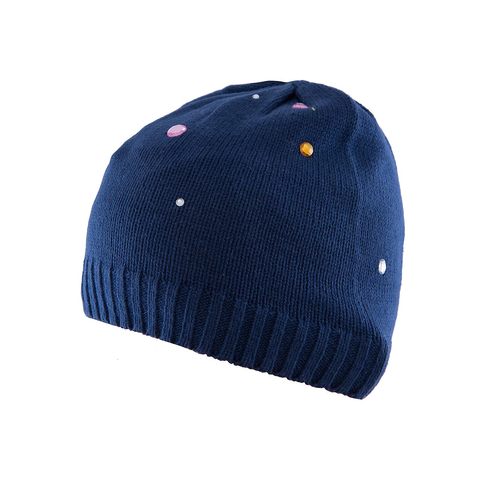 Шапка для девочки PlayTodayШапка для девочки от известного бренда PlayToday.<br>Уютная шапочка из вязаного трикотажа. Украшена россыпью сверкающих страз.<br>Состав:<br>60% хлопок, 40% акрил<br><br>Ширина мм: 157<br>Глубина мм: 13<br>Высота мм: 119<br>Вес г: 200<br>Цвет: синий<br>Возраст от месяцев: 18<br>Возраст до месяцев: 36<br>Пол: Женский<br>Возраст: Детский<br>Размер: 48,46<br>SKU: 4900664