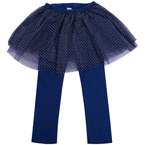 Брюки для девочки PlayTodayДжинсы и брючки<br>Брюки для девочки от известного бренда PlayToday.<br>Стильные леггинсы с юбкой - универсальная модель, фишка коллекции. Пышная сетчатая юбка придает легкости и воздушности, золотые капельки создают космический эффект. Пояс на мягкой резинке.<br>Состав:<br>95% хлопок, 5% эластан; отделка 100% полиэстер<br>Ширина мм: 157; Глубина мм: 13; Высота мм: 119; Вес г: 200; Цвет: темно-синий; Возраст от месяцев: 6; Возраст до месяцев: 9; Пол: Женский; Возраст: Детский; Размер: 74,92,86,80; SKU: 4900685;