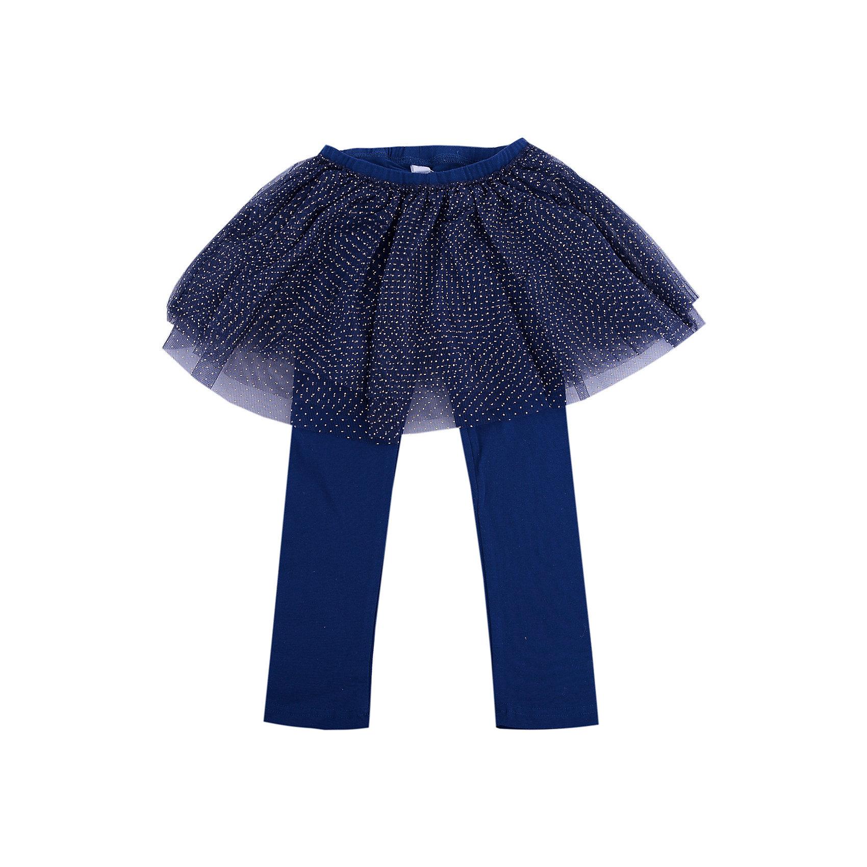 Брюки для девочки PlayTodayБрюки для девочки от известного бренда PlayToday.<br>Стильные леггинсы с юбкой - универсальная модель, фишка коллекции. Пышная сетчатая юбка придает легкости и воздушности, золотые капельки создают космический эффект. Пояс на мягкой резинке.<br>Состав:<br>95% хлопок, 5% эластан; отделка 100% полиэстер<br><br>Ширина мм: 157<br>Глубина мм: 13<br>Высота мм: 119<br>Вес г: 200<br>Цвет: полуночно-синий<br>Возраст от месяцев: 12<br>Возраст до месяцев: 18<br>Пол: Женский<br>Возраст: Детский<br>Размер: 86,92,74,80<br>SKU: 4900685