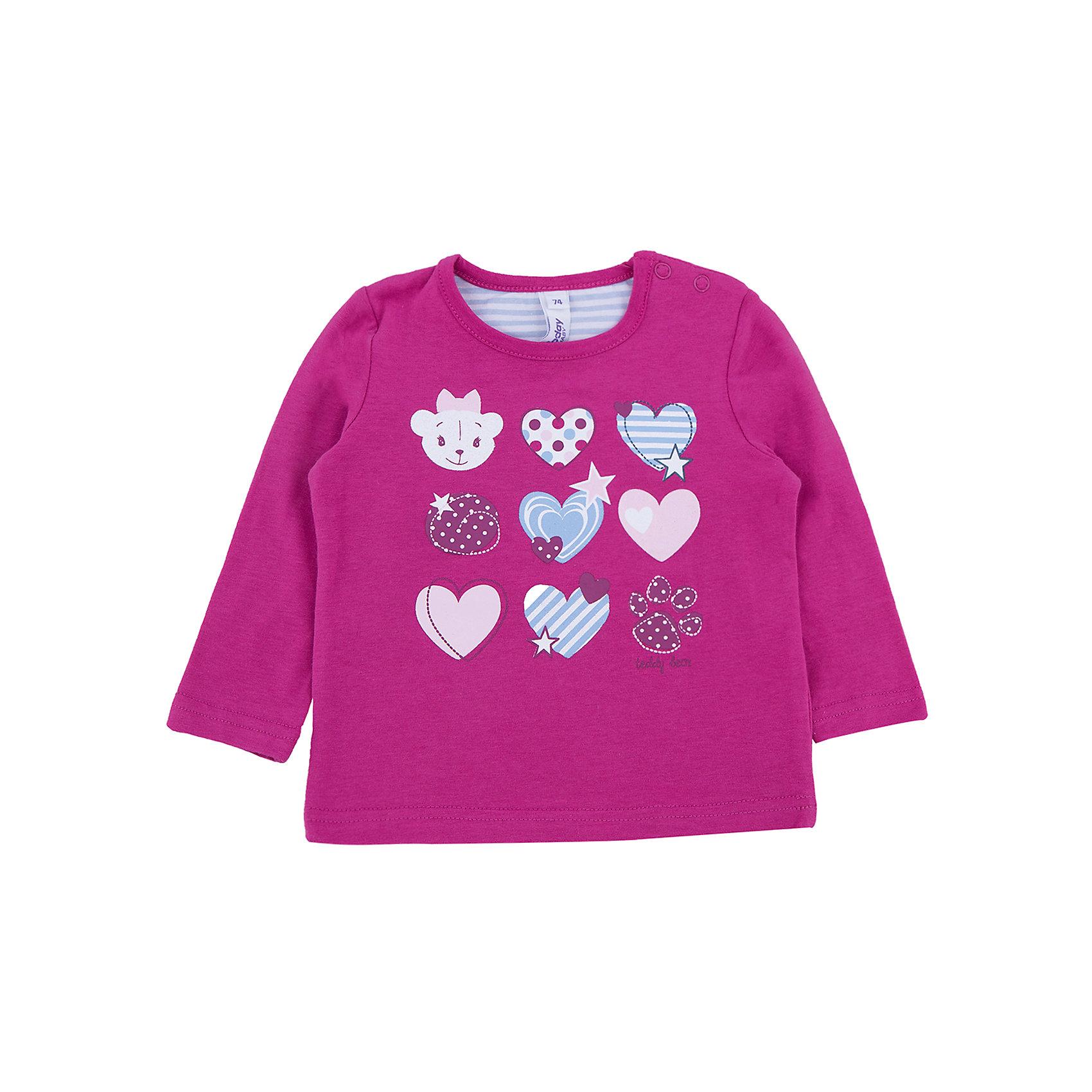 Футболка для девочки PlayTodayФутболка для девочки от известного бренда PlayToday.<br>Уютная хлопковая футболка с длинными рукавами. Украшена нежным принтом с сердечками. Застегивается на кнопки на плече, чтобы ее удобно было снимать.<br>Состав:<br>95% хлопок, 5% эластан<br><br>Ширина мм: 157<br>Глубина мм: 13<br>Высота мм: 119<br>Вес г: 200<br>Цвет: малиновый<br>Возраст от месяцев: 12<br>Возраст до месяцев: 18<br>Пол: Женский<br>Возраст: Детский<br>Размер: 86,74,92,80<br>SKU: 4900791