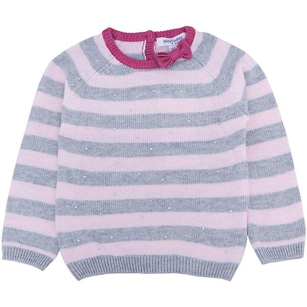 Джемпер для девочки PlayTodayТолстовки, свитера, кардиганы<br>Джемпер для девочки от известного бренда PlayToday.<br>Уютный джемпер из вязаного трикотажа. Высокий воротник защитит от ветра, рукава и низ на резинке. На воротнике яркий розовый бантик. Украшен россыпью звездных страз на полочке.<br>Состав:<br>50% полиэстер, 20% акрил, 20% нейлон, 5% шерсть<br><br>Ширина мм: 157<br>Глубина мм: 13<br>Высота мм: 119<br>Вес г: 200<br>Цвет: белый<br>Возраст от месяцев: 12<br>Возраст до месяцев: 15<br>Пол: Женский<br>Возраст: Детский<br>Размер: 80,92,86,74<br>SKU: 4900845