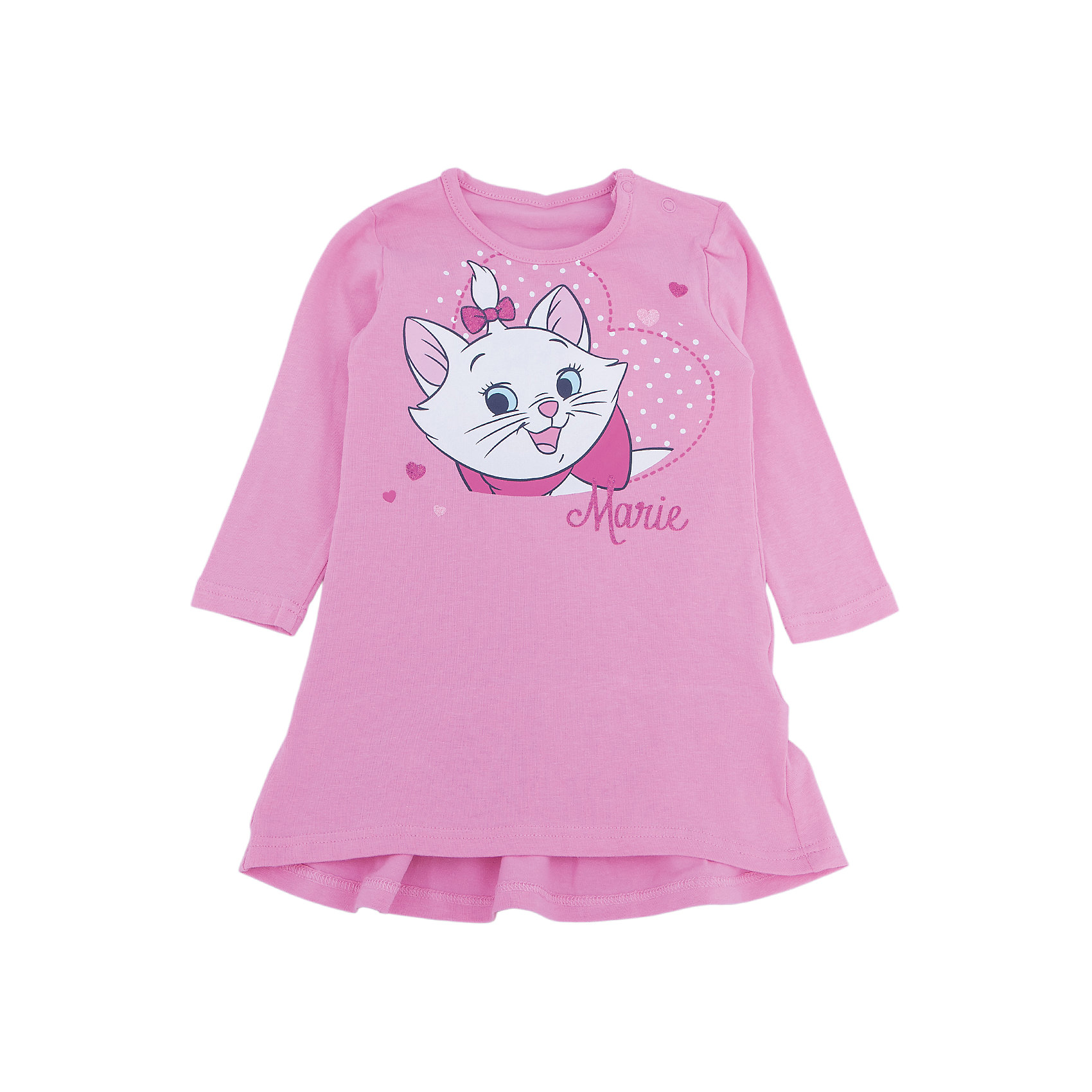 Платье для девочки PlayTodayПлатье для девочки от известного бренда PlayToday.<br>Уютное трикотажное платье с длинными рукавами. Украшено нежным принтом с кошечкой Мари. Застегивается на кнопки на плече.<br>Состав:<br>95% хлопок, 5% эластан<br><br>Ширина мм: 157<br>Глубина мм: 13<br>Высота мм: 119<br>Вес г: 200<br>Цвет: розовый<br>Возраст от месяцев: 6<br>Возраст до месяцев: 9<br>Пол: Женский<br>Возраст: Детский<br>Размер: 74,86,80,92<br>SKU: 4900865