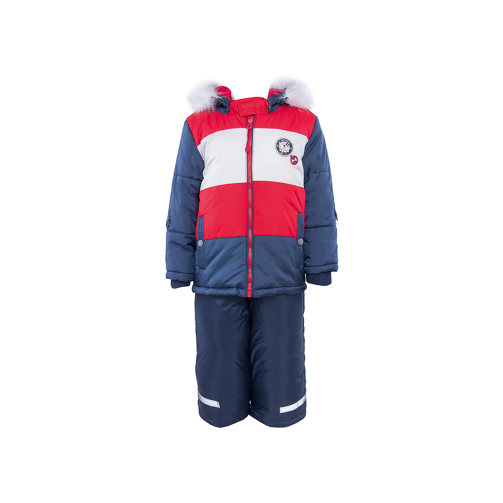 Комплект: куртка и полукомбинезон для мальчика PlayTodayКомплект: куртка и полукомбинезон для мальчика от известного бренда PlayToday.<br>Теплый комплект из стеганой куртки и полукомбинезона. <br>Куртка застегивается на молнию. Внутри уютная велюровая подкладка. Рукава на мягкой трикотажной резинке для защиты от ветра. Есть два функциональных кармана на кнопках и светоотражатели. Внизу есть специальная вставка на резинке, пристегнув которую вы надежно защитите малыша от снега.<br>Полукомбинезон застегивается на молнию. Бретели регулируются по длине, низ штанишек утягивается стопперами. Внутри мягкая велюровая подкладка.  Двойной низ - с<br>Состав:<br>Верх: 100% полиэстер, подкладка: 80% хлопок, 20% полиэстер, Утеплитель 100% полиэстер, 300 г/м2<br><br>Ширина мм: 157<br>Глубина мм: 13<br>Высота мм: 119<br>Вес г: 200<br>Цвет: разноцветный<br>Возраст от месяцев: 18<br>Возраст до месяцев: 24<br>Пол: Мужской<br>Возраст: Детский<br>Размер: 92,74,80,86<br>SKU: 4900870
