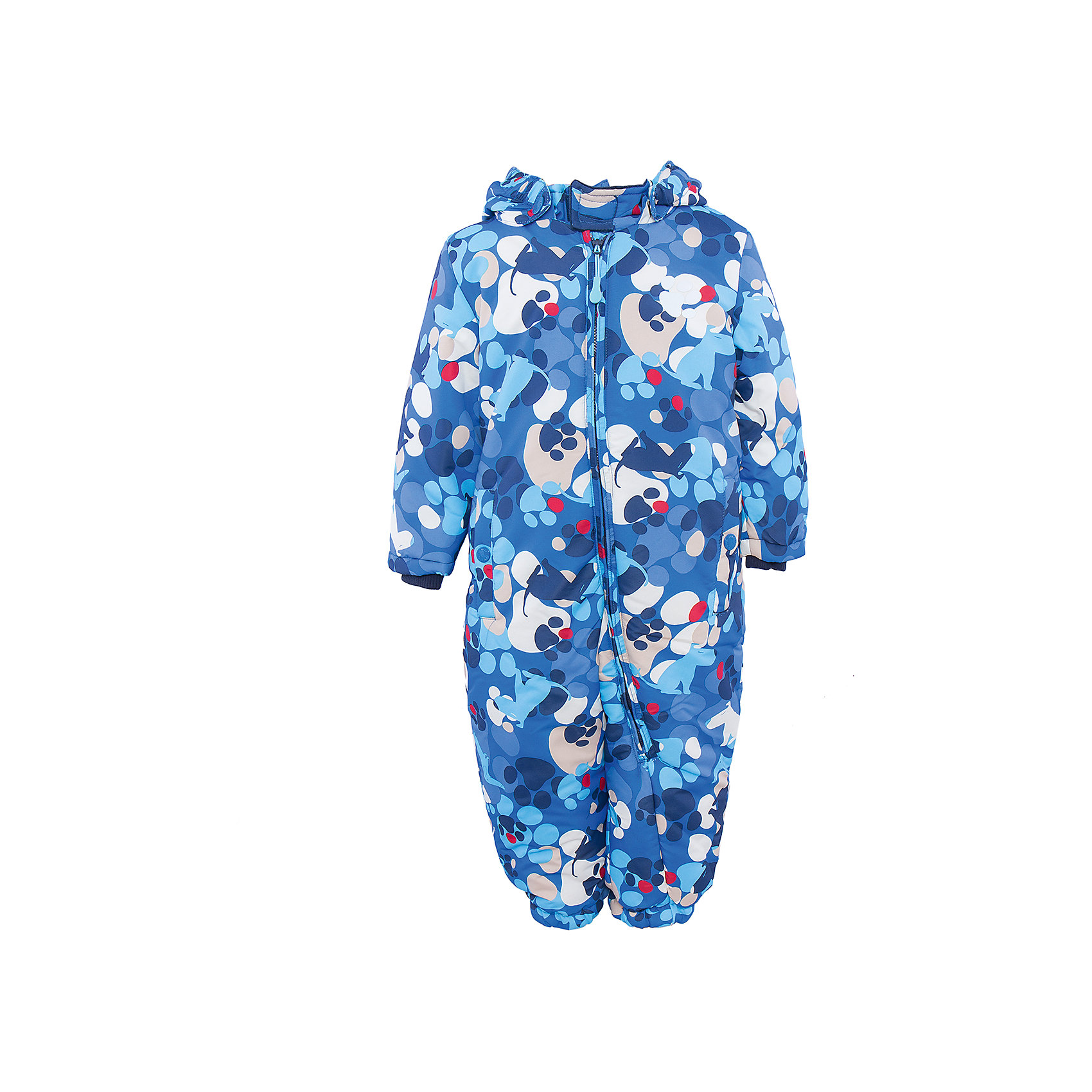 Комбинезон для мальчика PlayTodayВерхняя одежда<br>Комбинезон для мальчика от известного бренда PlayToday.<br>Уютный теплый комбинезон с отстегивающимся капюшоном и забавным принтом - собачками и собачьими следами. Застегивается на молнию. Внутри стеганая велюровая подкладка темно-синего цвета. Рукава на мягкой трикотажной резинке для защиты от ветра. Низ штанишек на резинке. Есть два функциональных кармана на кнопках и светоотражатели. Специальная отстегивающаяся резинка на пуговицах позволяет закреплять комбинезон под обувью.<br>Состав:<br>Верх: 100% полиэстер, подкладка: 80% хлопок, 20% полиэстер, Утеплитель 100% полиэстер, 300 г/м2<br><br>Ширина мм: 157<br>Глубина мм: 13<br>Высота мм: 119<br>Вес г: 200<br>Цвет: разноцветный<br>Возраст от месяцев: 12<br>Возраст до месяцев: 15<br>Пол: Мужской<br>Возраст: Детский<br>Размер: 80,74,86,92<br>SKU: 4900875