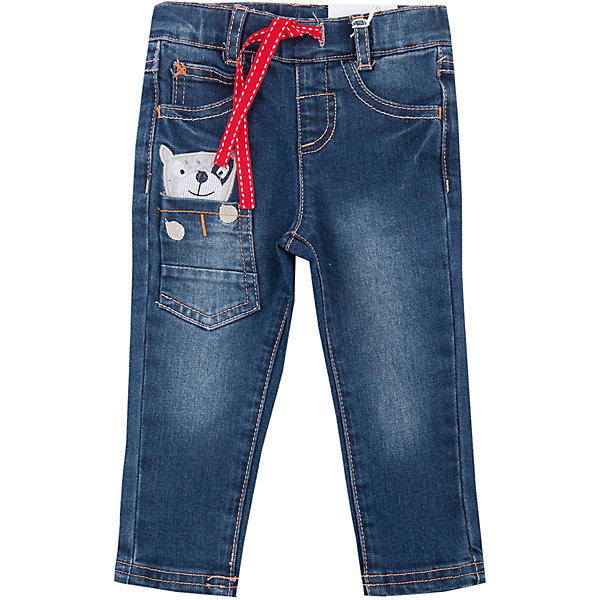 Брюки для мальчика PlayTodayДжинсы и брючки<br>Брюки для мальчика от известного бренда PlayToday.<br>Стильные джинсы с модными потертостями. Классическая пятикарманка + 1 кармашек, украшенный забавной вышивкой, будто из него выглядывает маленькая собачка. Пояс на резинке, дополнительно регулируется шнурком, есть шлевки для ремня.<br>Состав:<br>75% хлопок, 23% полиэстер, 2% эластан<br><br>Ширина мм: 157<br>Глубина мм: 13<br>Высота мм: 119<br>Вес г: 200<br>Цвет: синий<br>Возраст от месяцев: 12<br>Возраст до месяцев: 15<br>Пол: Мужской<br>Возраст: Детский<br>Размер: 80,74,92,86<br>SKU: 4900941