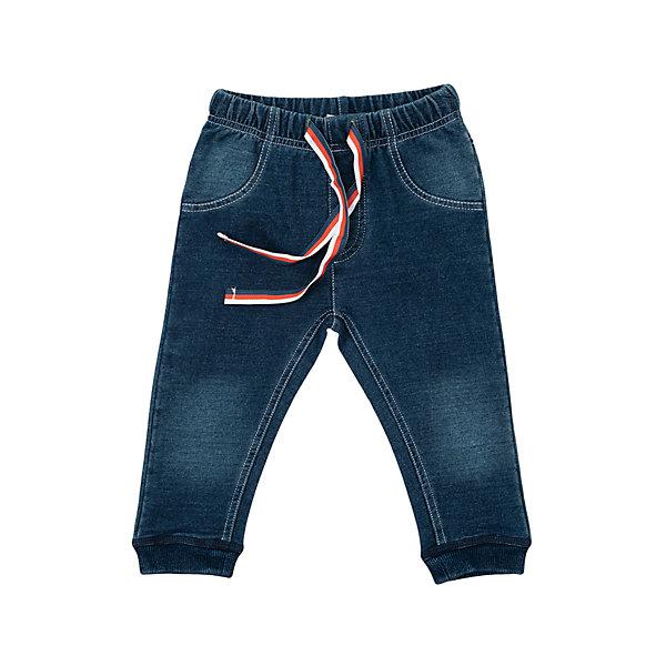 Брюки для мальчика PlayTodayПолзунки и штанишки<br>Брюки для мальчика от известного бренда PlayToday.<br>Стильные брюки из френч терри с имитацией джинсовой ткани - малыш будет выглядеть как взрослый. Пояс на резинке, дополнительно регулируется яркой тесьмой. Края штанишек обработаны яркой радужной стежкой. Низ на резинке.<br>Состав:<br>100% хлопок<br><br>Ширина мм: 157<br>Глубина мм: 13<br>Высота мм: 119<br>Вес г: 200<br>Цвет: синий<br>Возраст от месяцев: 0<br>Возраст до месяцев: 3<br>Пол: Мужской<br>Возраст: Детский<br>Размер: 56,74,68,62<br>SKU: 4900987