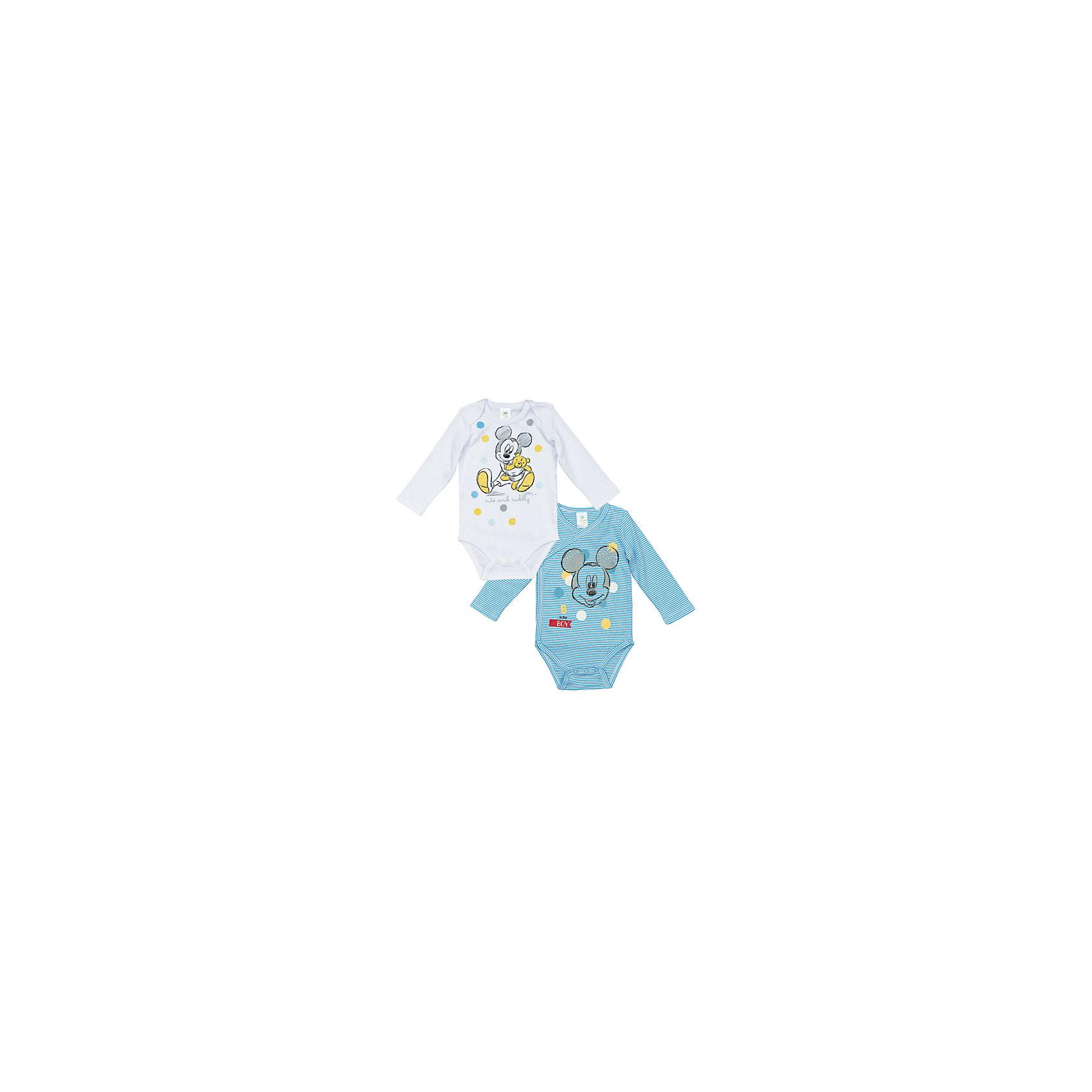PlayToday Боди, 2 шт. для мальчика PlayToday комплект боди 2 шт детский babydays 0408 300 hbg f голубой р 74