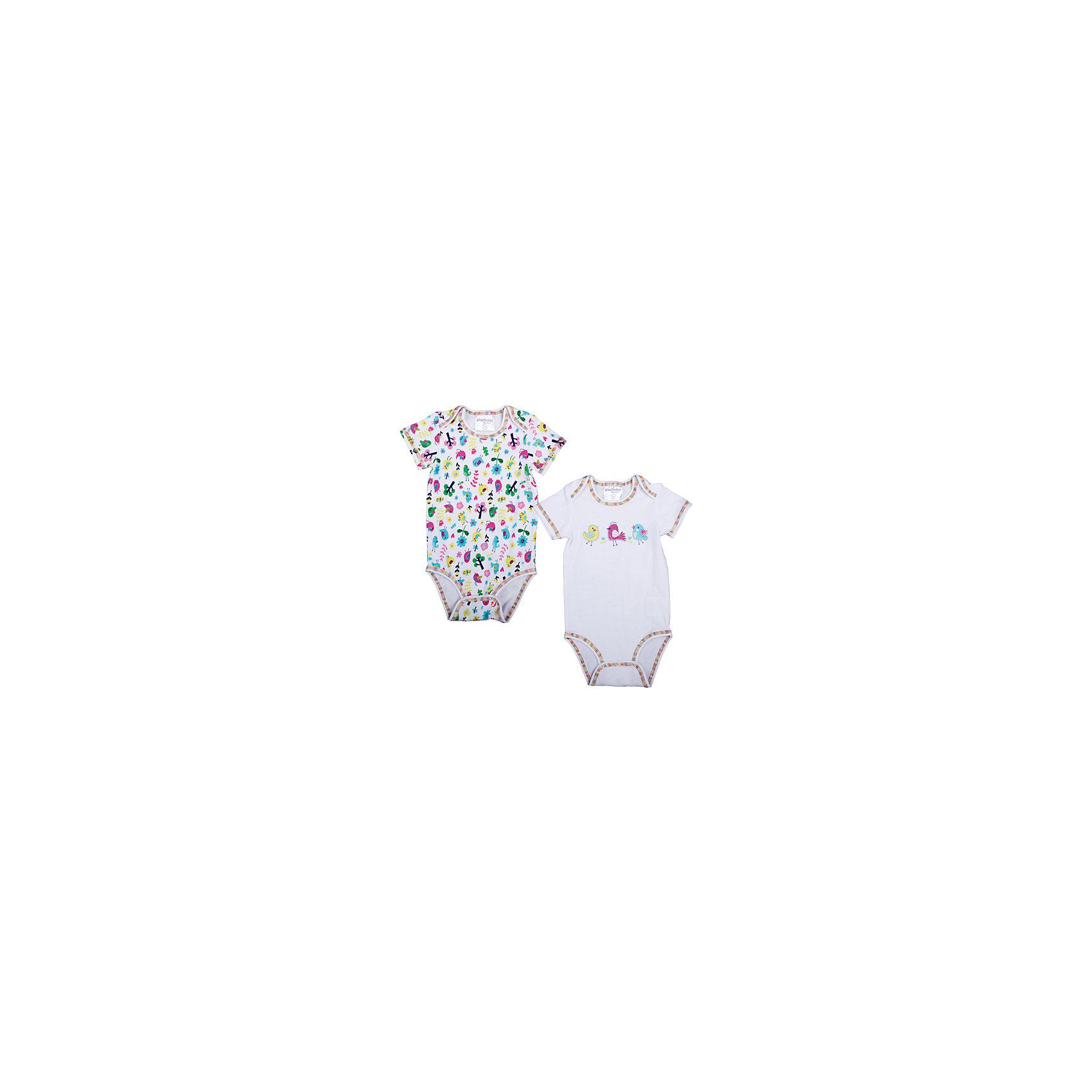 PlayToday Боди, 2 шт. для девочки PlayToday комплект боди 2 шт детский babydays 0408 300 hbg f голубой р 74