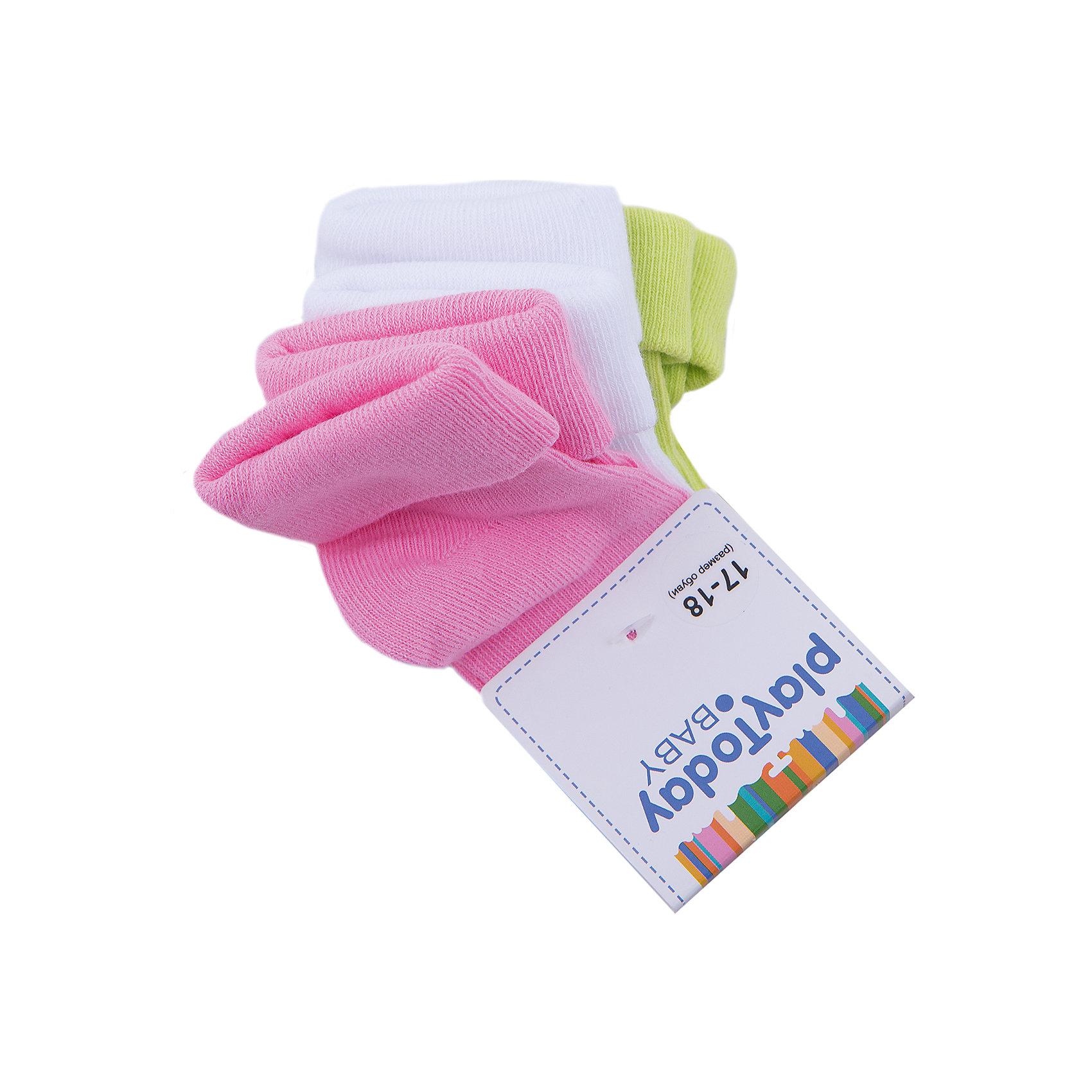 Носки для девочки PlayTodayНоски<br>Носки для девочки от известного бренда PlayToday.<br>Уютные хлопковые носочки в пастельных оттенках - розовый, желтый, белый. Верх на мягкой резинке.<br>Состав:<br>75% хлопок, 22% нейлон, 3% эластан<br><br>Ширина мм: 87<br>Глубина мм: 10<br>Высота мм: 105<br>Вес г: 115<br>Цвет: разноцветный<br>Возраст от месяцев: 12<br>Возраст до месяцев: 18<br>Пол: Женский<br>Возраст: Детский<br>Размер: 11<br>SKU: 4901124